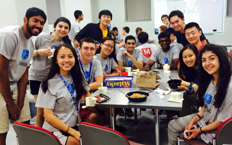 ILS students at an ice cream social.
