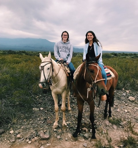 Argentina - Lara Youniss (right), a junior physiology and neurobiology major, studying in Argentina.