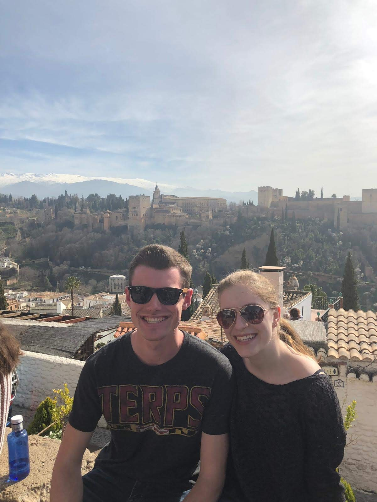 Spain - Brian Florenzo, a physiology and neurobiology major with a double degree in Spanish, and Lexi Wolfe, also a physiology and neurobiology major, both juniors, studying in Seville and seen here visiting La Alhambra in Grenada.