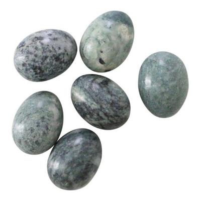 Green Decorative Stone Eggs