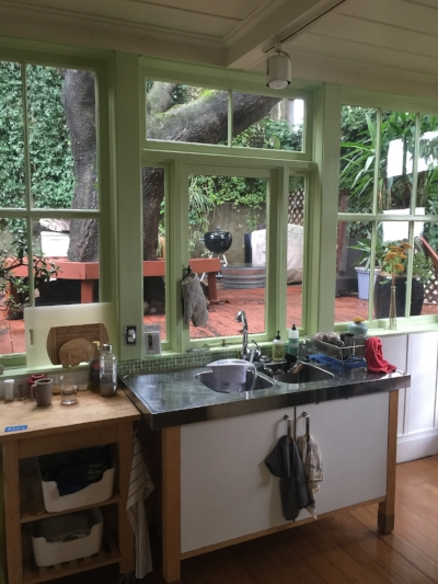 BEFORE: Kitchen, backyard view