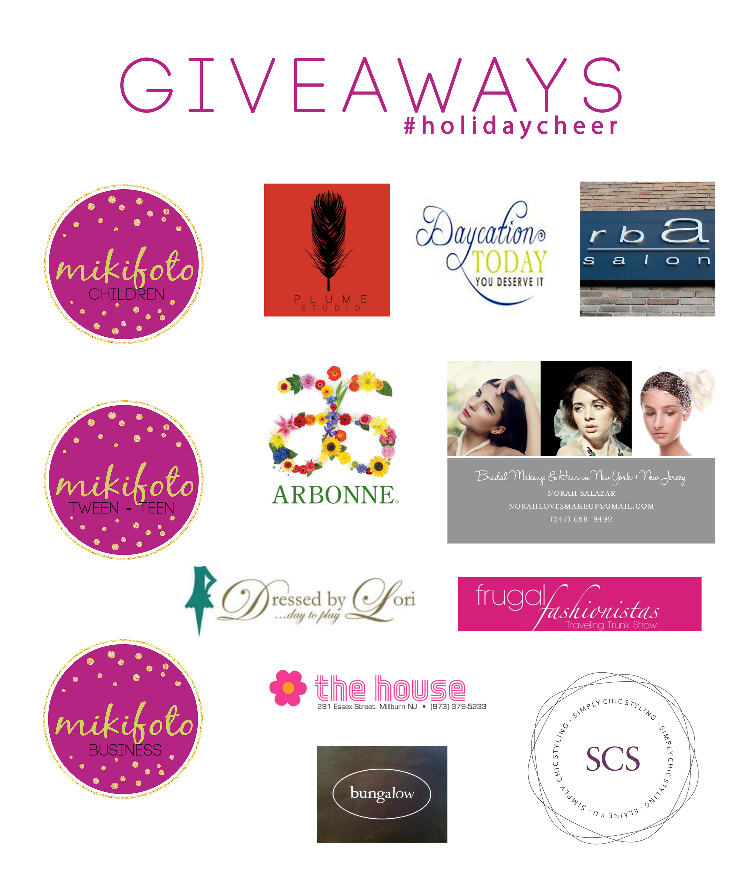 A big thank you for being part of this giveaway from mikifoto . Happy holidays!