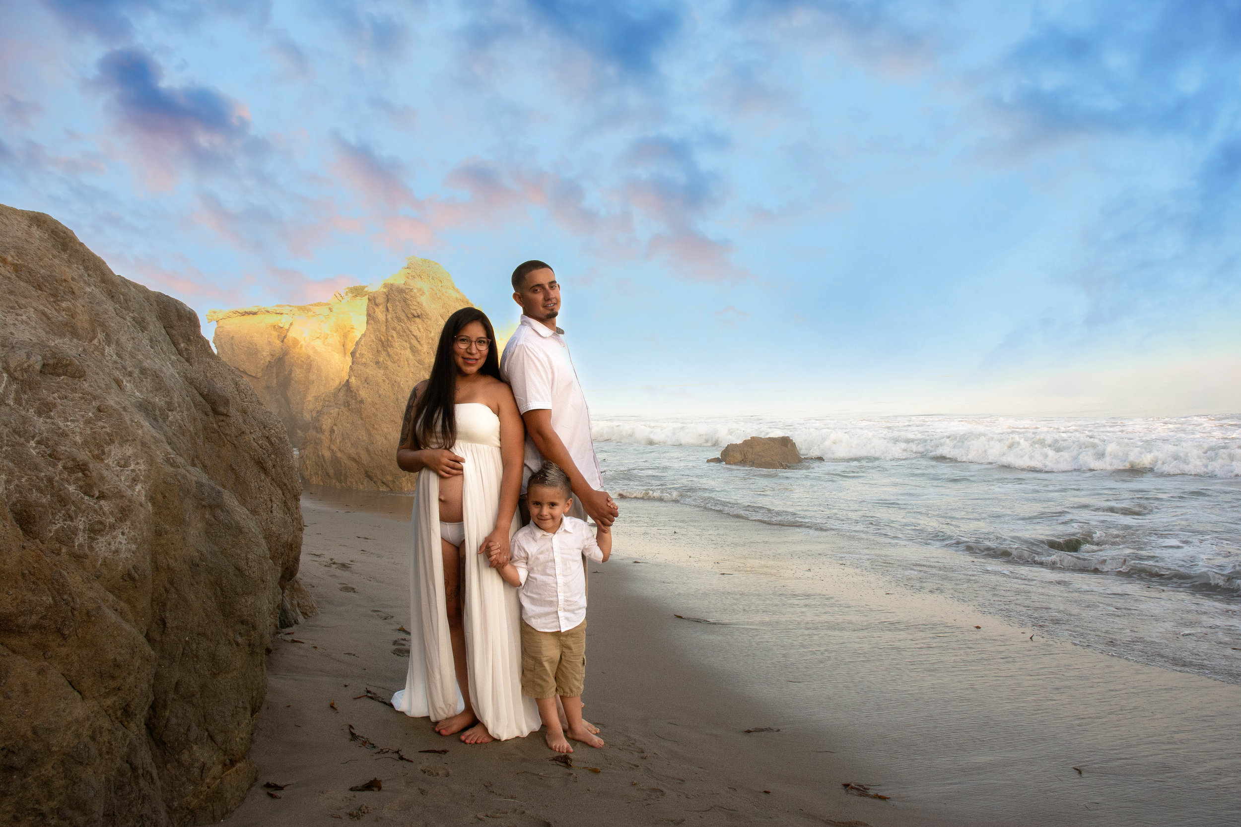 Three Become Four - El Matador Beach, Malibu