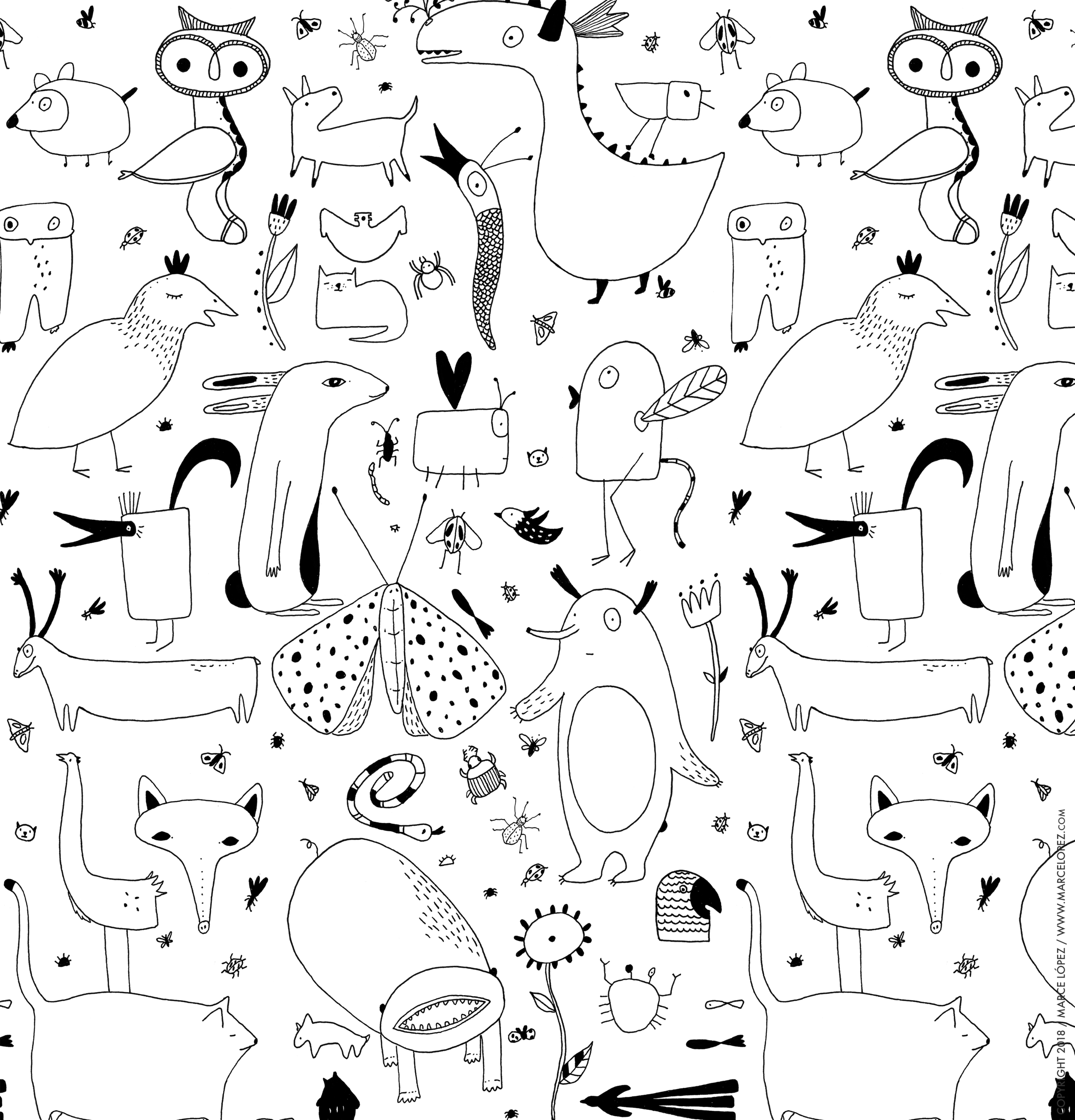 animals monster  pattern