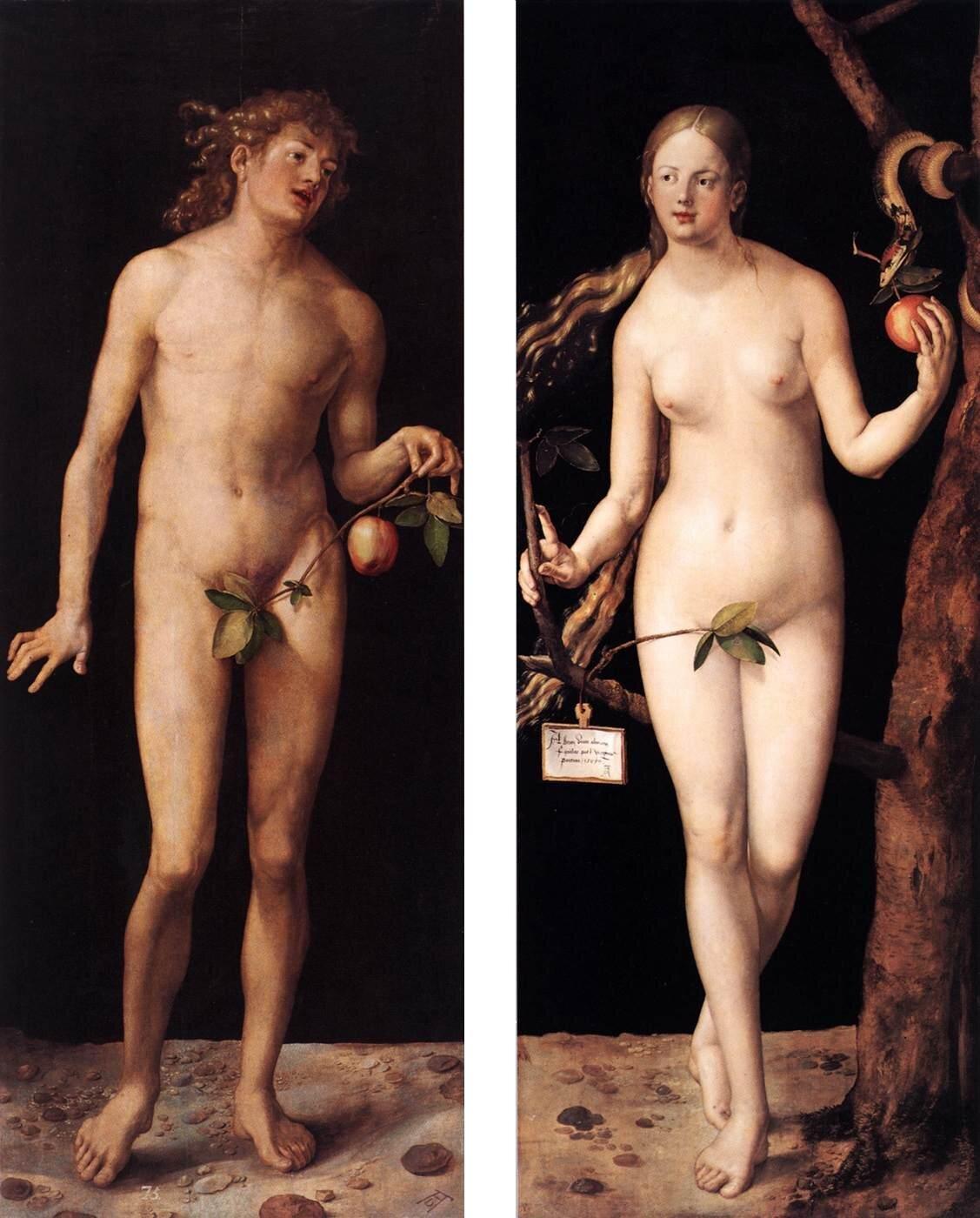 Adán y Eva , Alberto Durero, 1527.