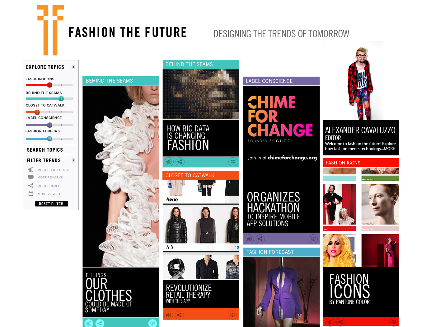 Fashion the Future  Homepage