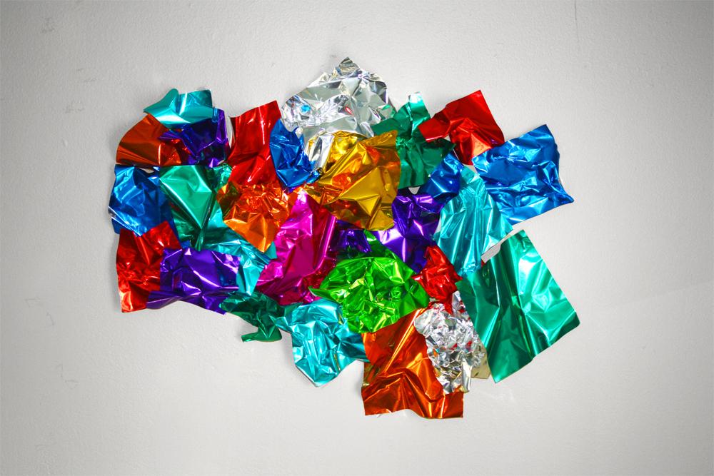 "Supererogatory I, 2013, Foil Paper, 13"" x 8"""