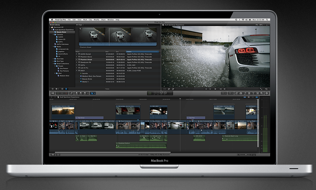 Final Cut Pro X at launch in 2011