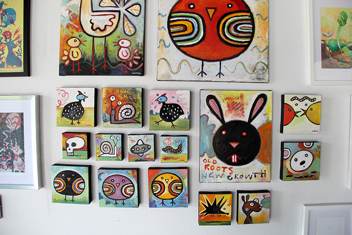 Keith Norval's paintings.