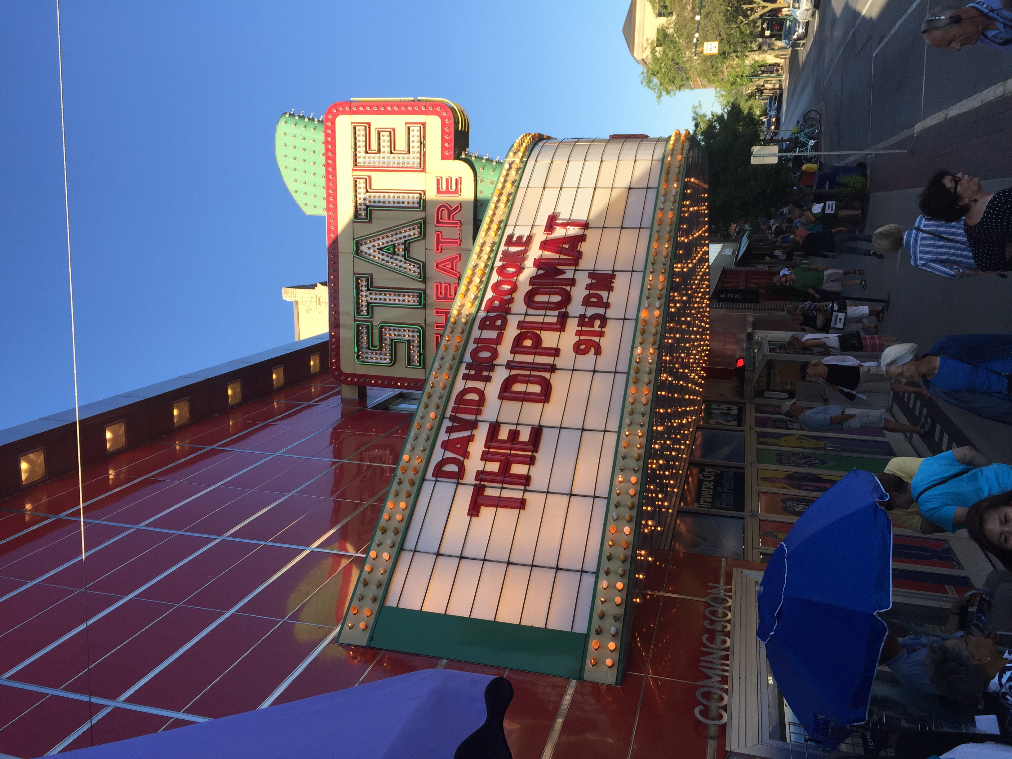 Photo taken by Director David Holbrooke prior to the 2015 Traverse City Film Festival screening