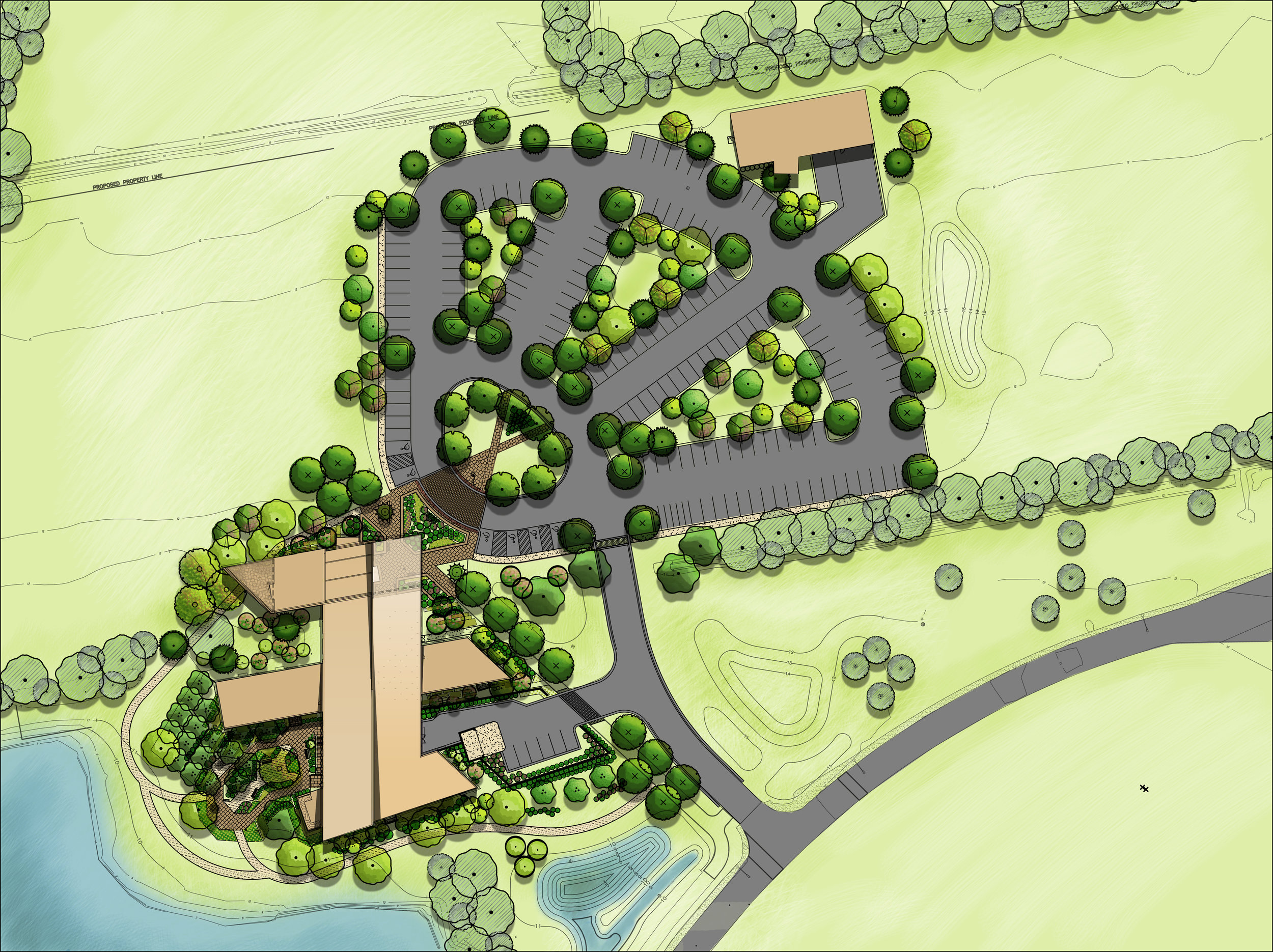 Plan Rendering Virginia Beach Parks & Recreation Administration Virginia Beach, VA Completed 2018