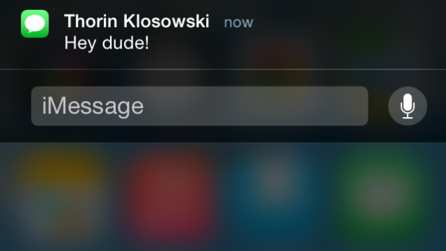 You can now reply to messages within the notification, contextually.
