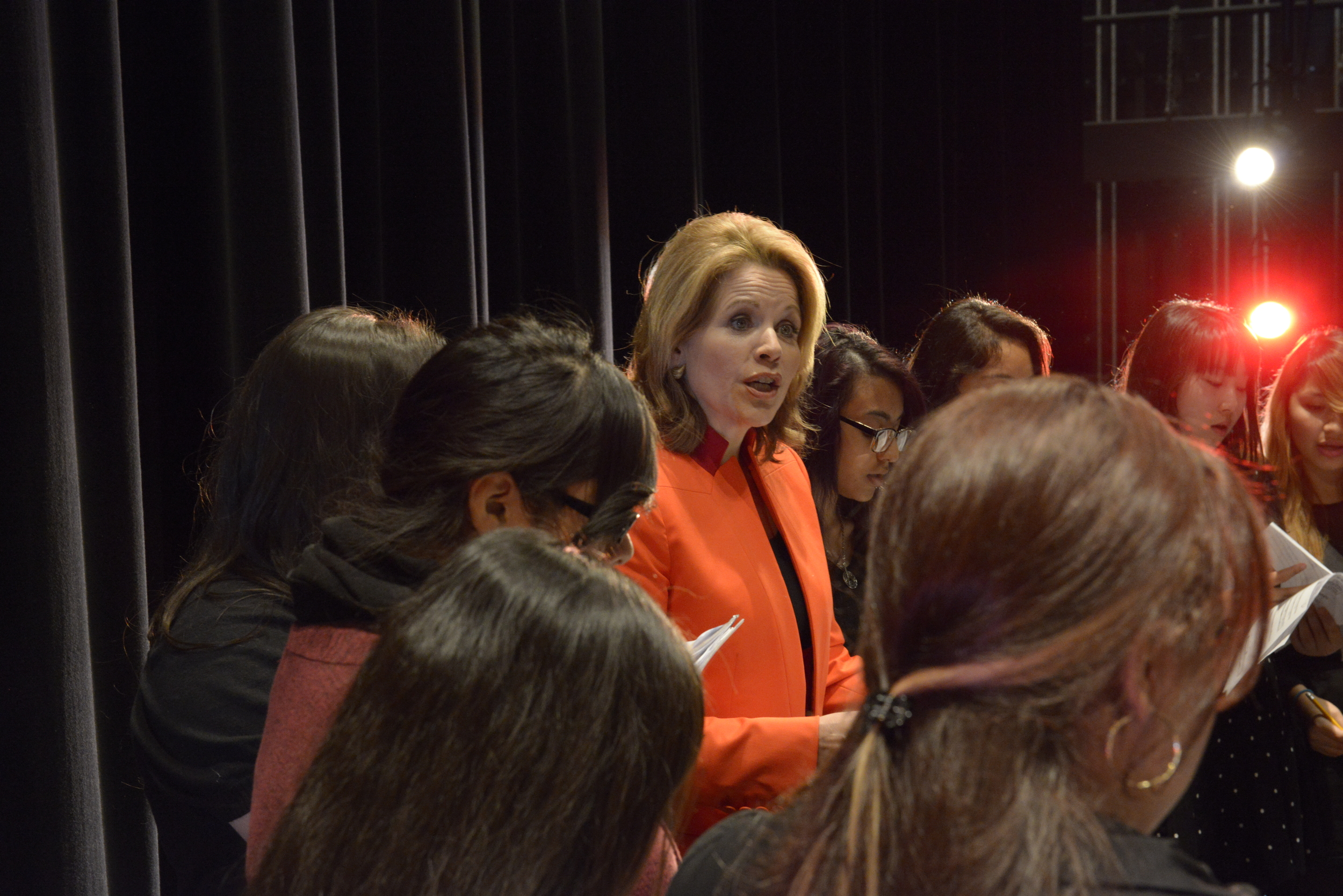 Ren é e Fleming, Soprano; Creative Consultant, Lyric Opera of Chicago, and Honorary Co-Chair of  Be Creative: The Campaign for Creative Schools , sings with students of Benito Juarez Community Academy