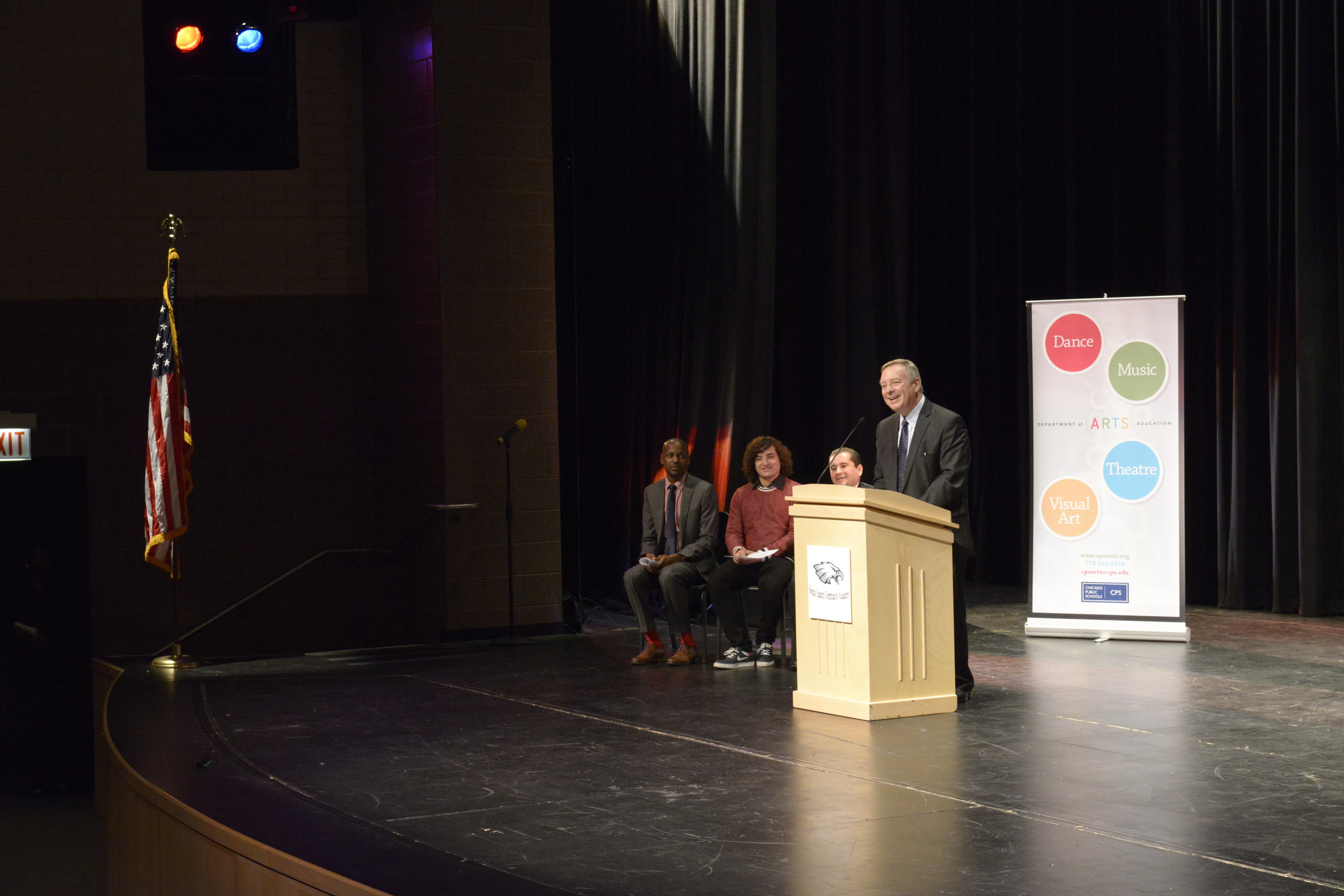 Senator Dick Durbin, a longtime arts advocate, remarks on the importance of arts education in Chicago's public schools