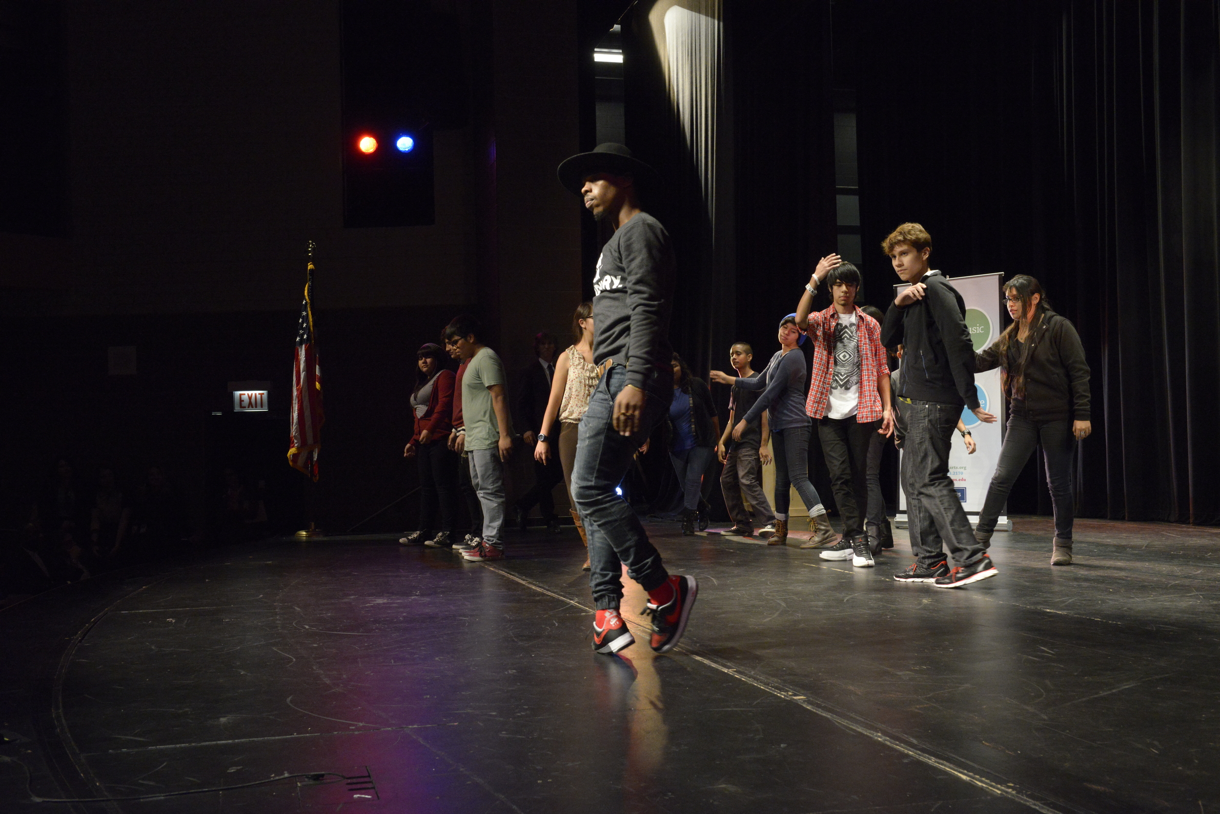 Dancer Lil Buck and drama students perform at the October 21 launch of  Be Creative: The Campaign for Creative Schools