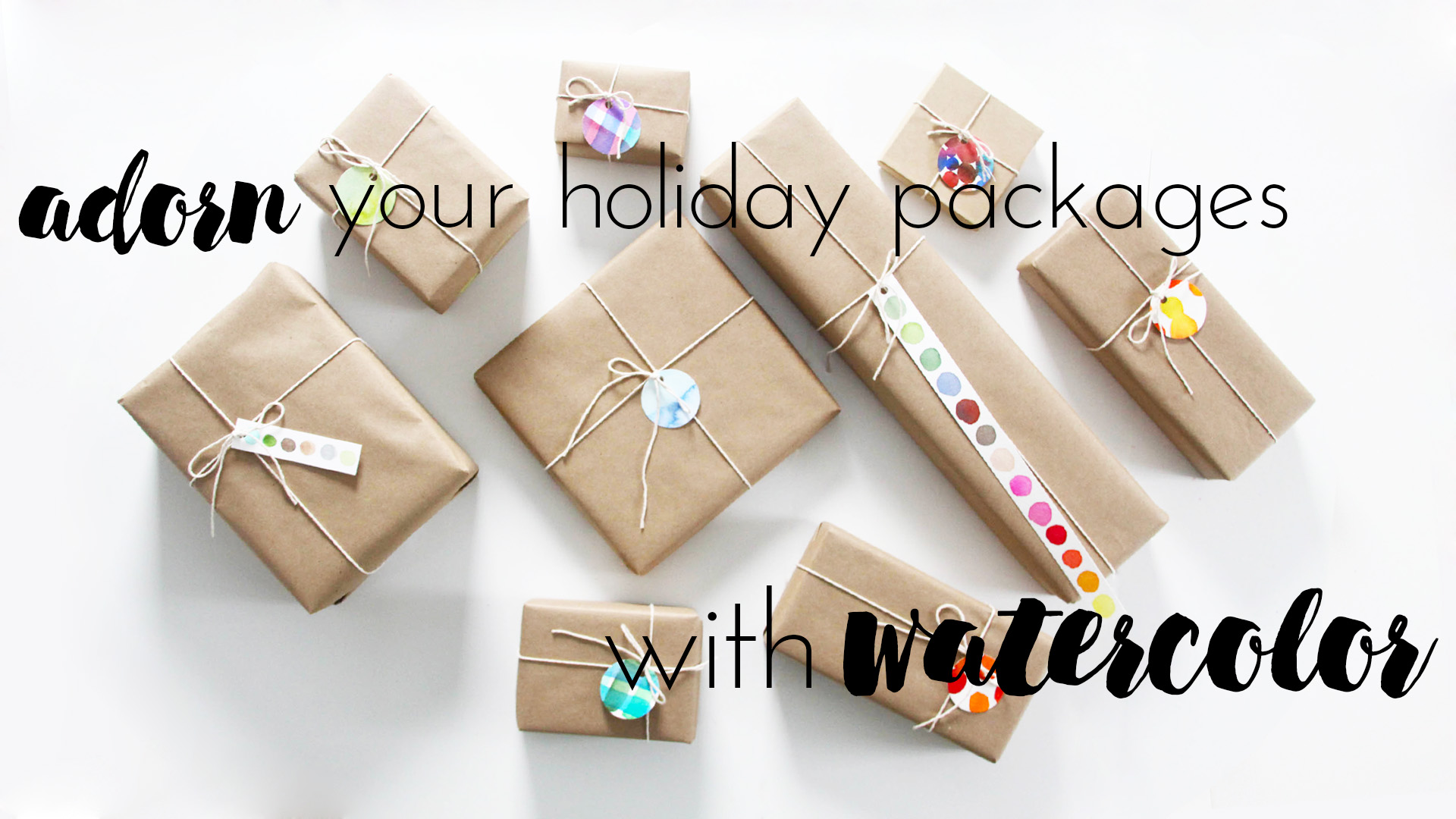 Adorn Your Holiday Packages with Watercolor