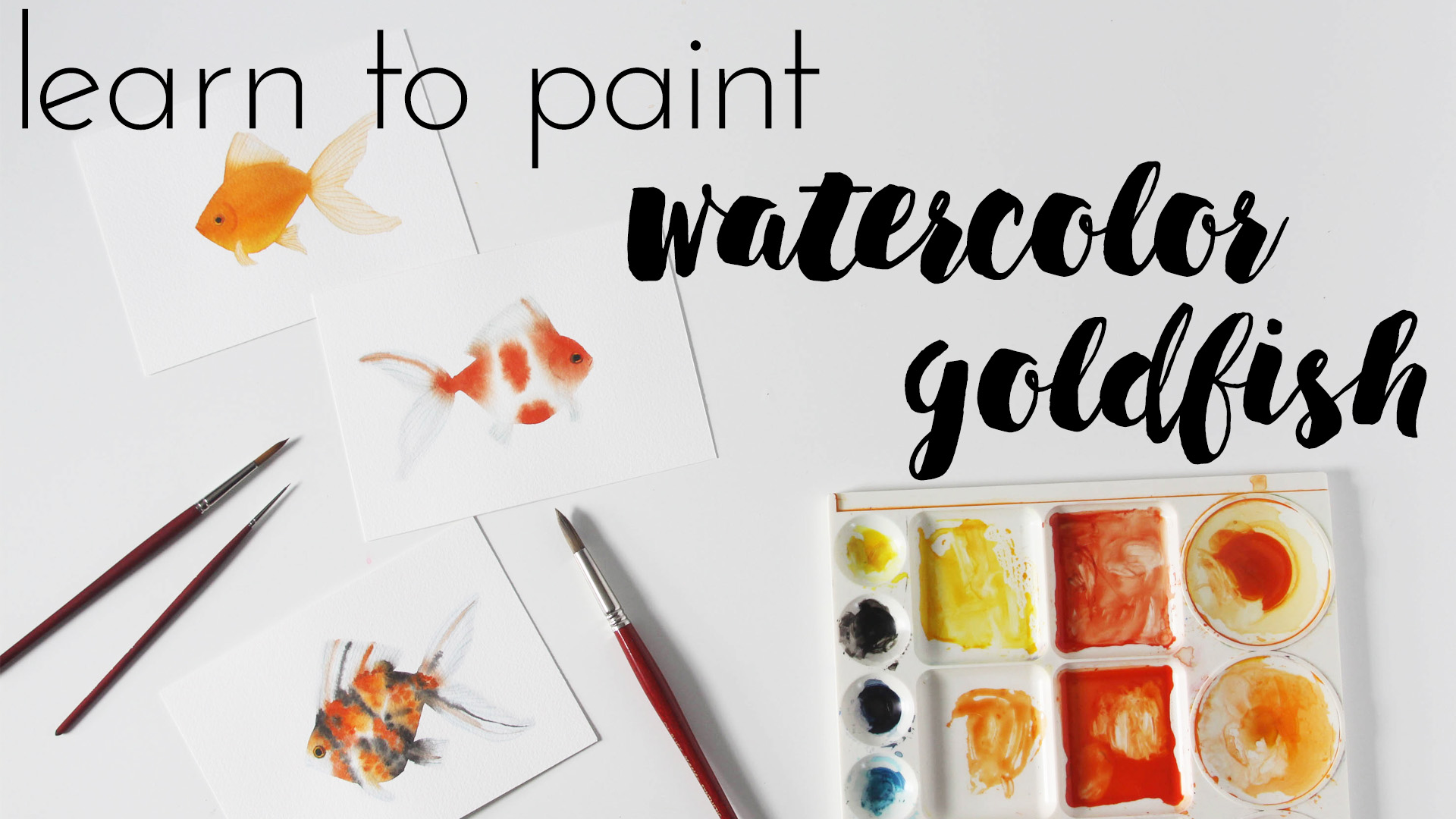 Learn to Paint Watercolor Goldfish a Class with Anne Butera