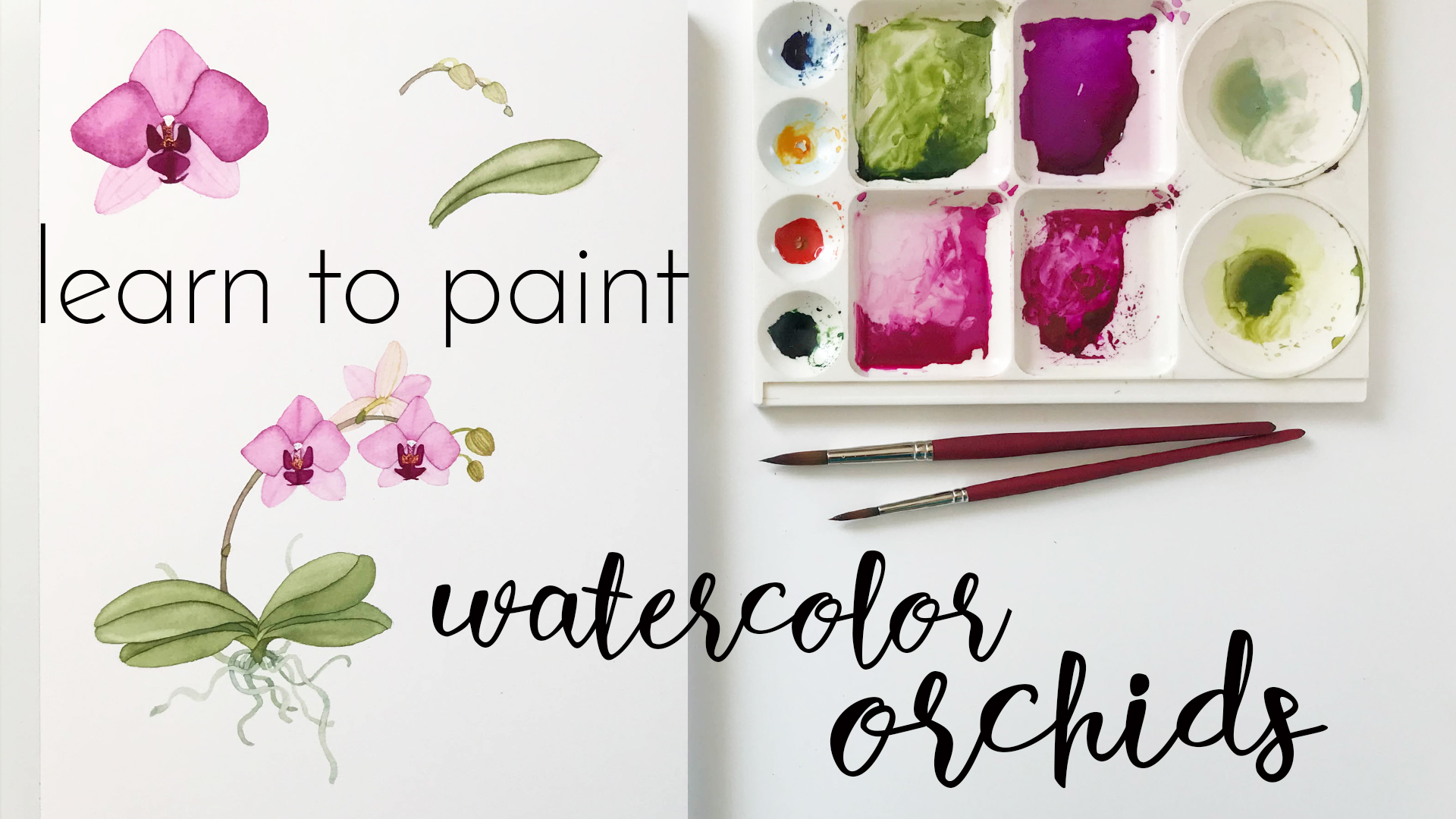 Learn to Paint Watercolor Orchids