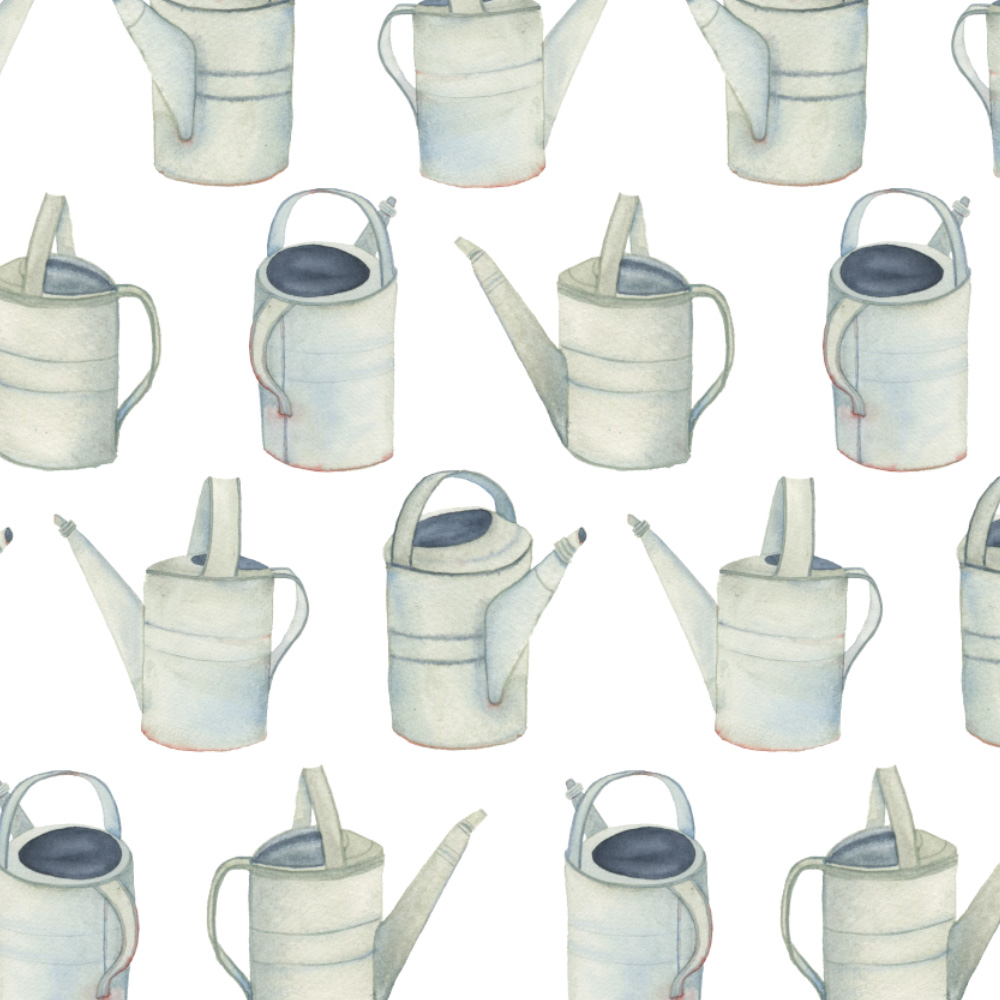watercolor watering cans