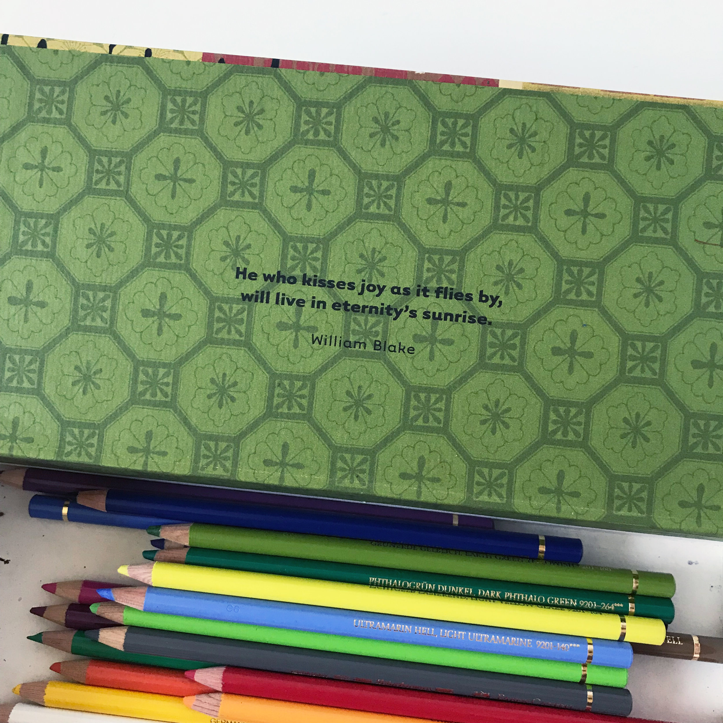 Hidden Inspiration -- William Blake Quote About Joy In My Pencil Box by Anne Butera of My Giant Strawberry