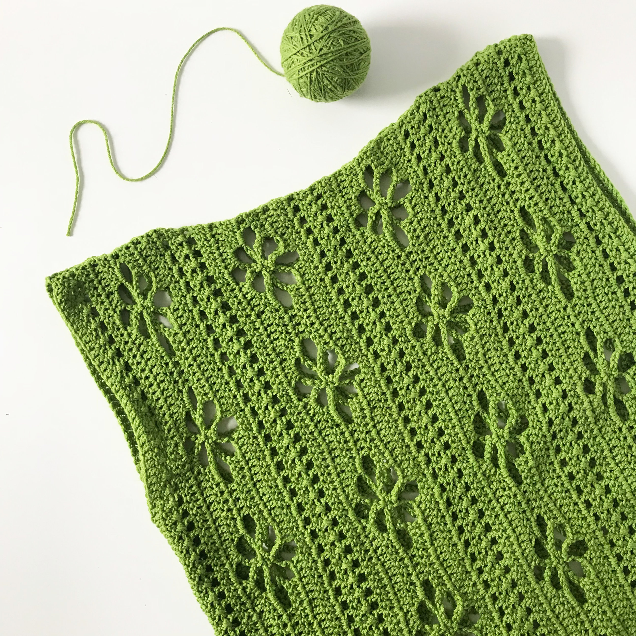 A Top I Crocheted Using One Dog Woof's Wildflowers Tunic Pattern