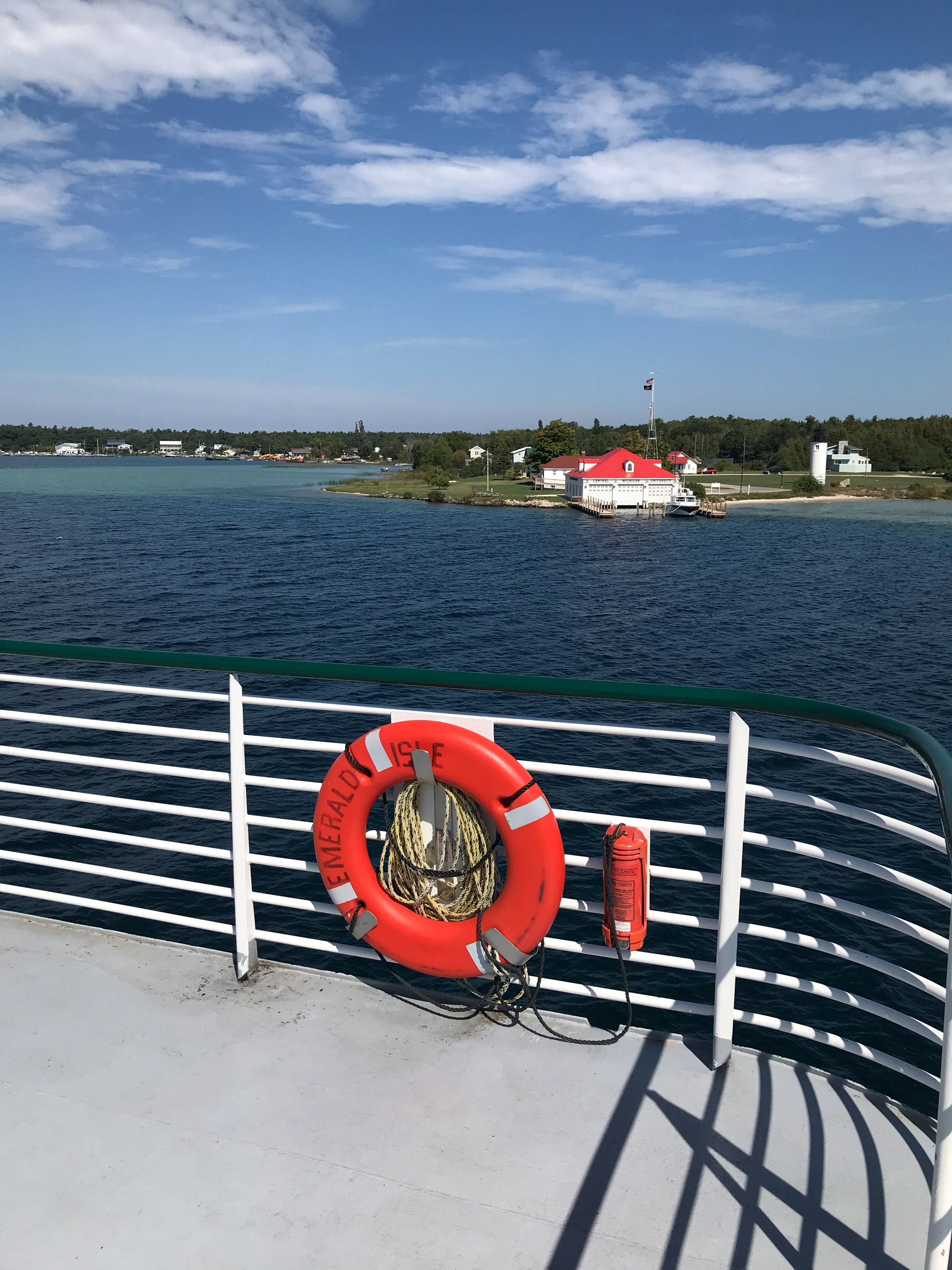 On the Ferry from Charlevoix Michigan Arriving at Beaver Island
