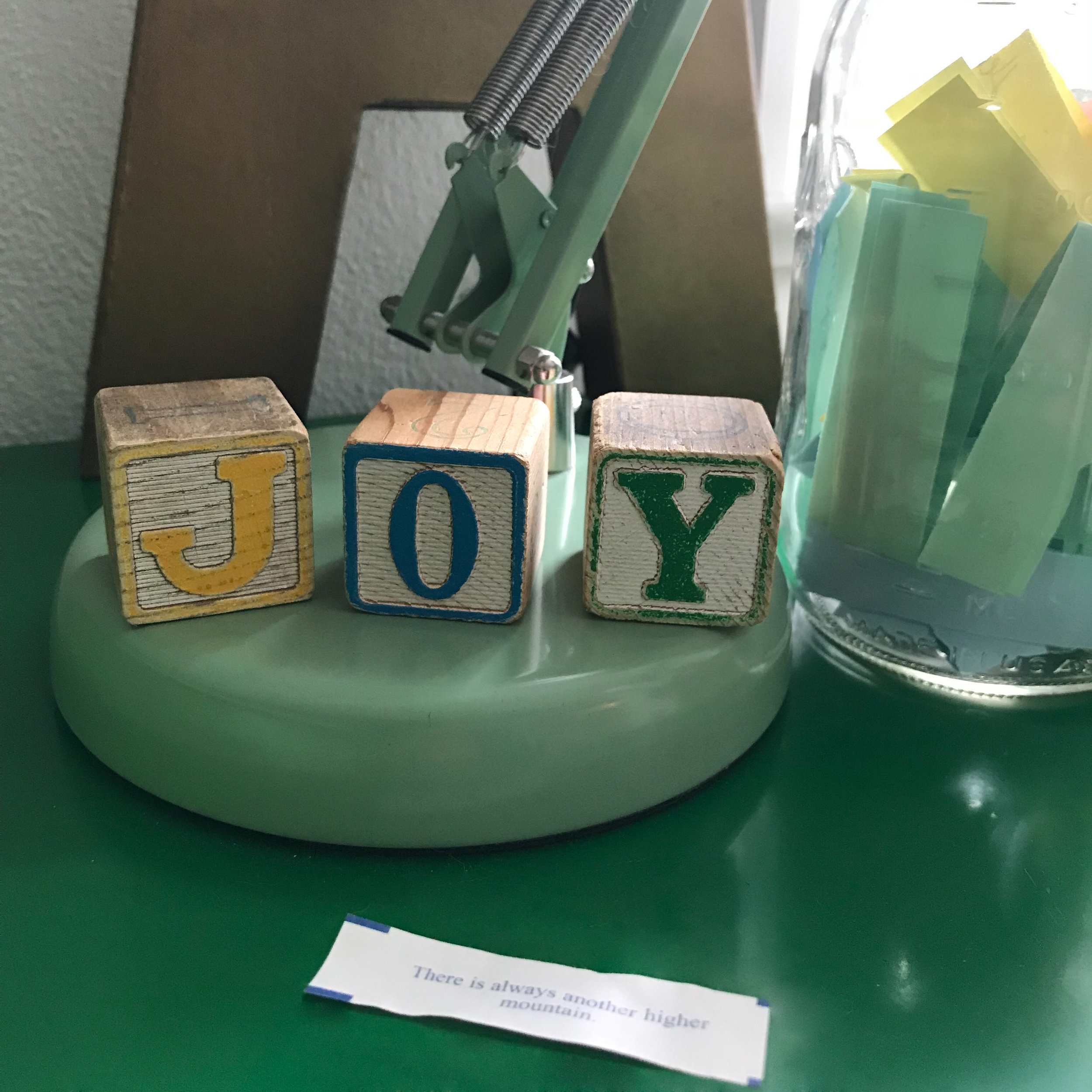 Joy, Fortune Cookie Encouragement and Dream Jar Inspiring Me to Keep Dreaming Big