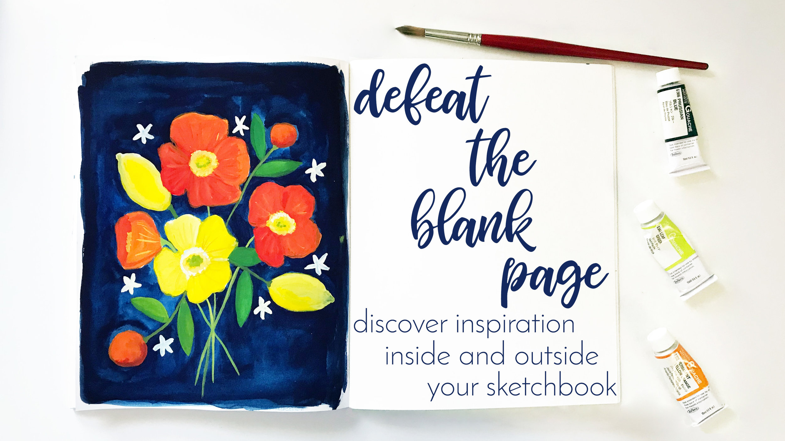 Defeat the Blank Page: Discover Inspiration Inside and Outside Your Sketchbook a Skillshare Class with Anne Butera of My Giant Strawberry
