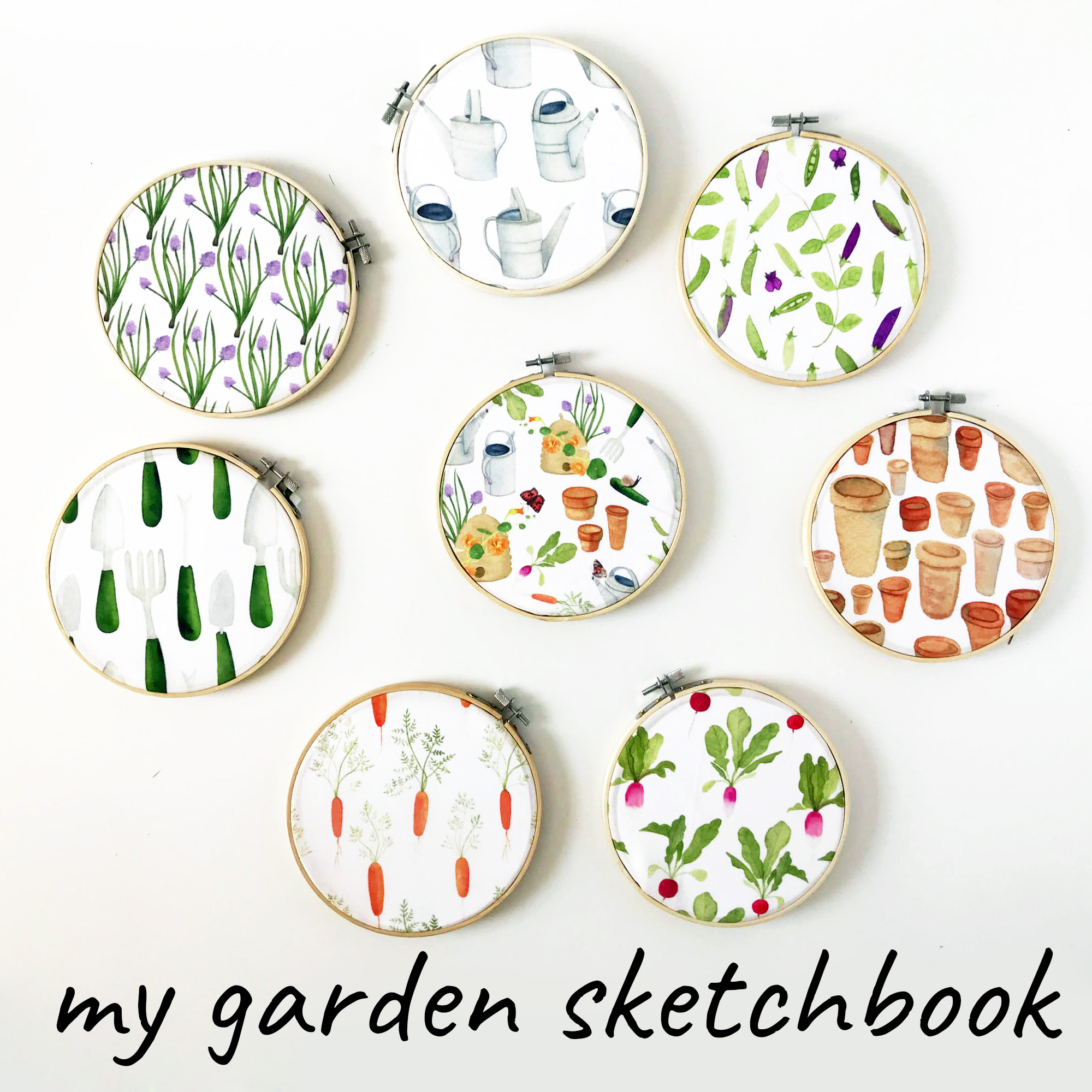 My Garden Sketchbook a Fabric Collection by Anne Butera