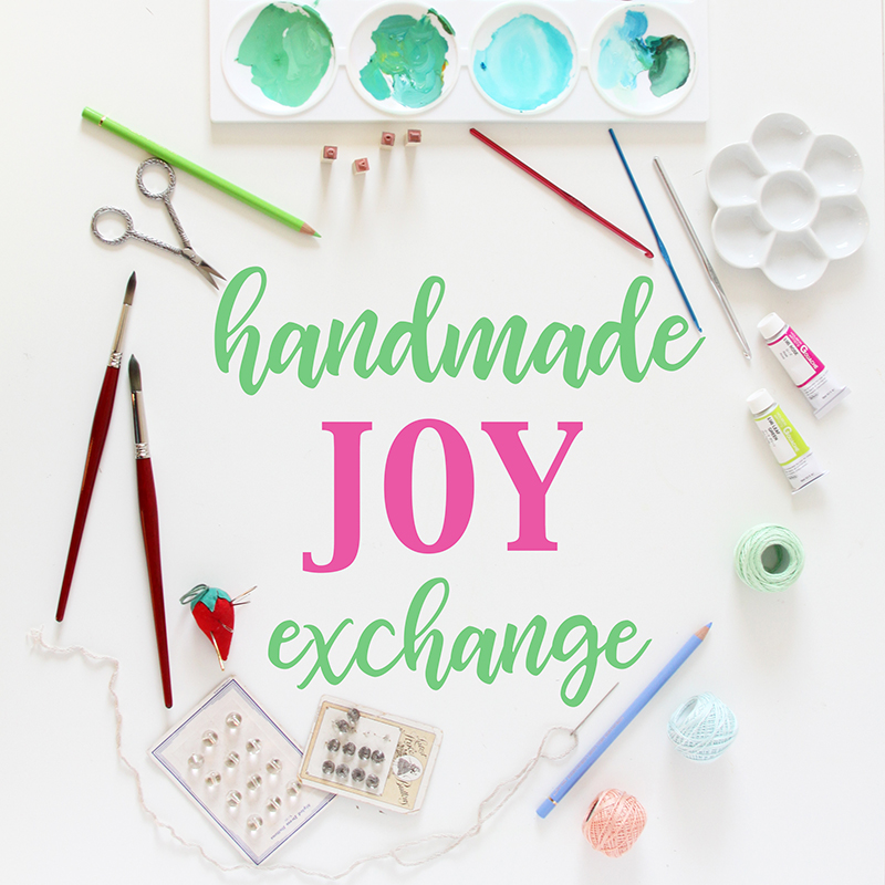The Fifth Handmade Joy Exchange Hosted by Anne Butera of My Giant Strawberry