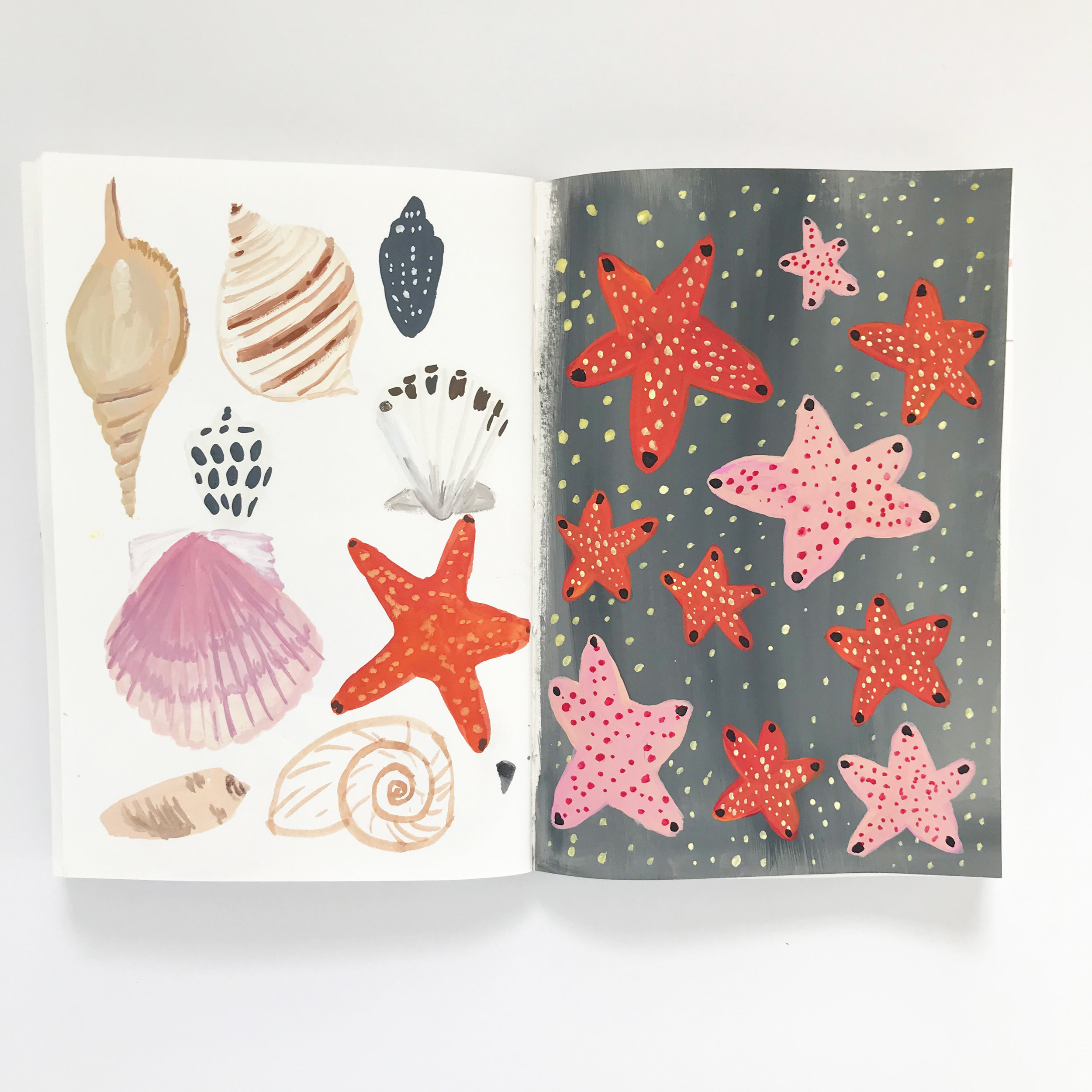 A Page from the second collaborative sketchbook by Dana Barbieri and Anne Butera