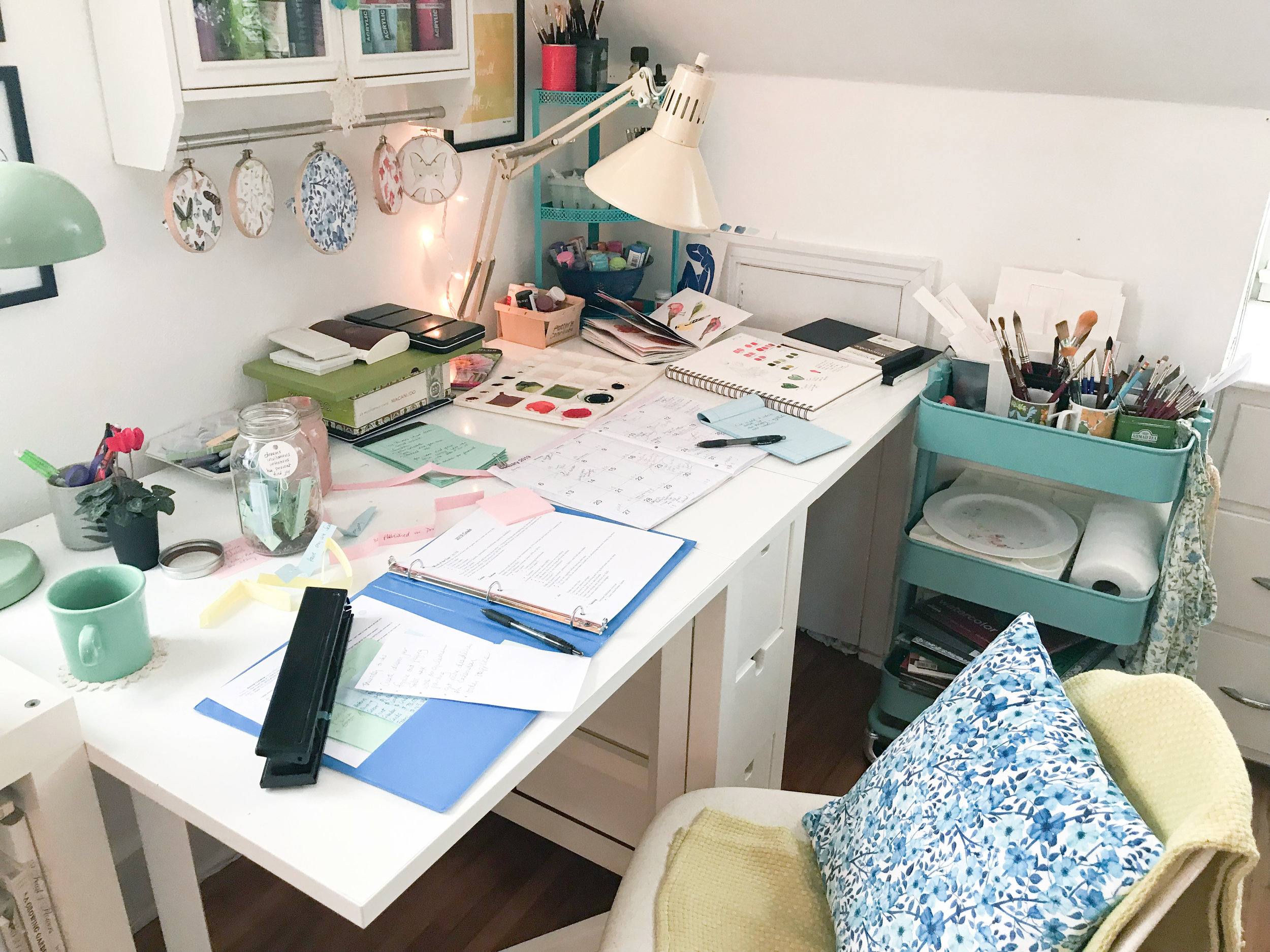 At My Painting Table Planning for the Year