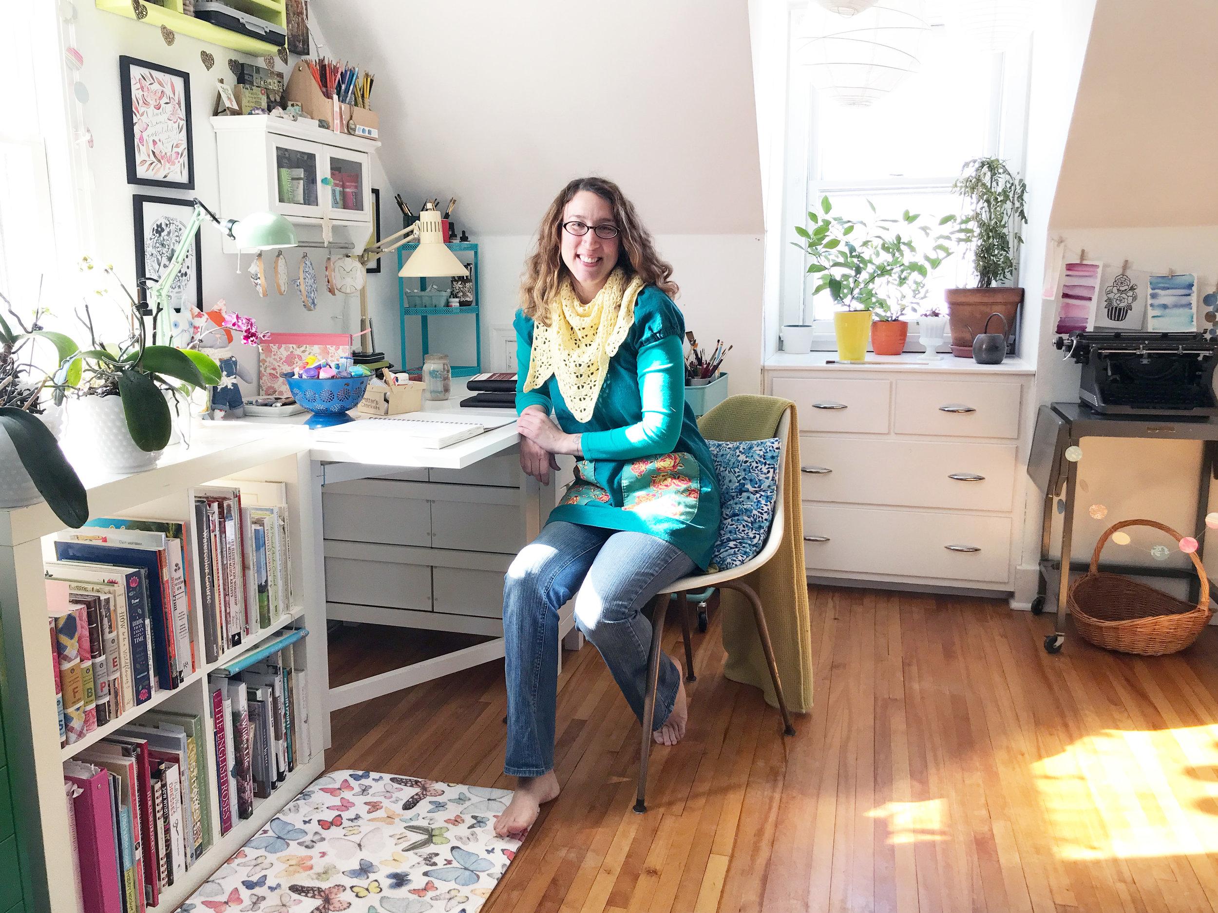 Anne Butera in Her Studio