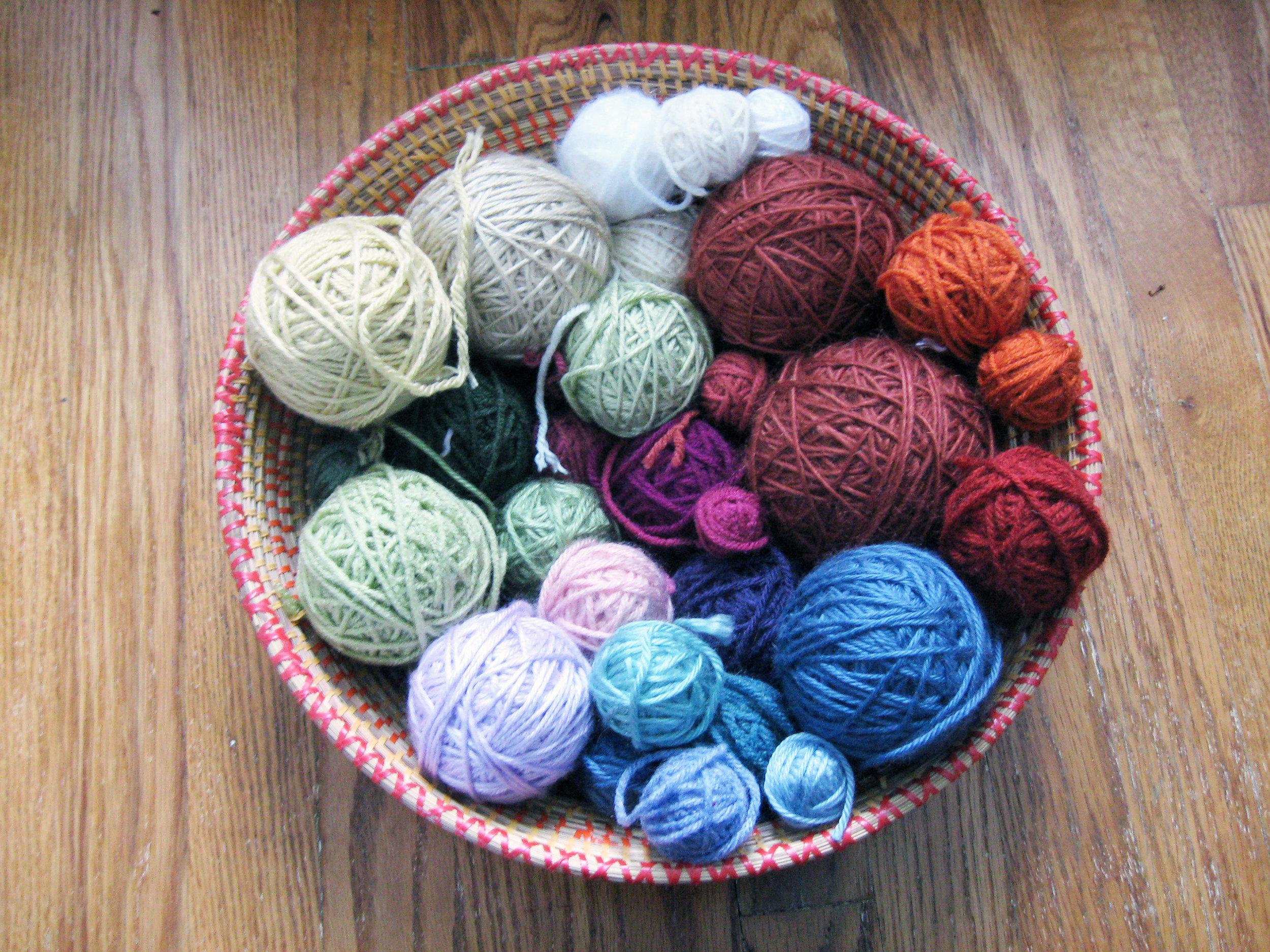 A Basket of Colorful Yarn is a Joyful Inspiration