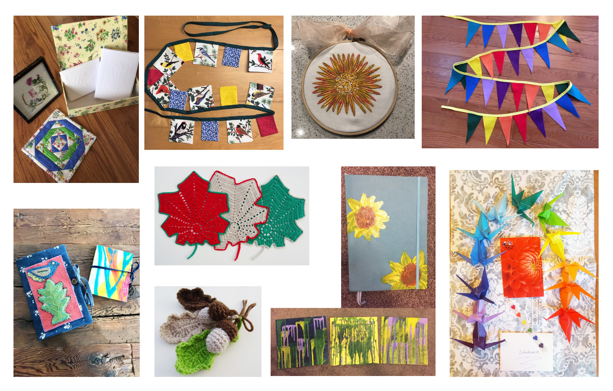 Bits of Handmade Joy Created by the Joy Exchange Participants and Sent to their Partners