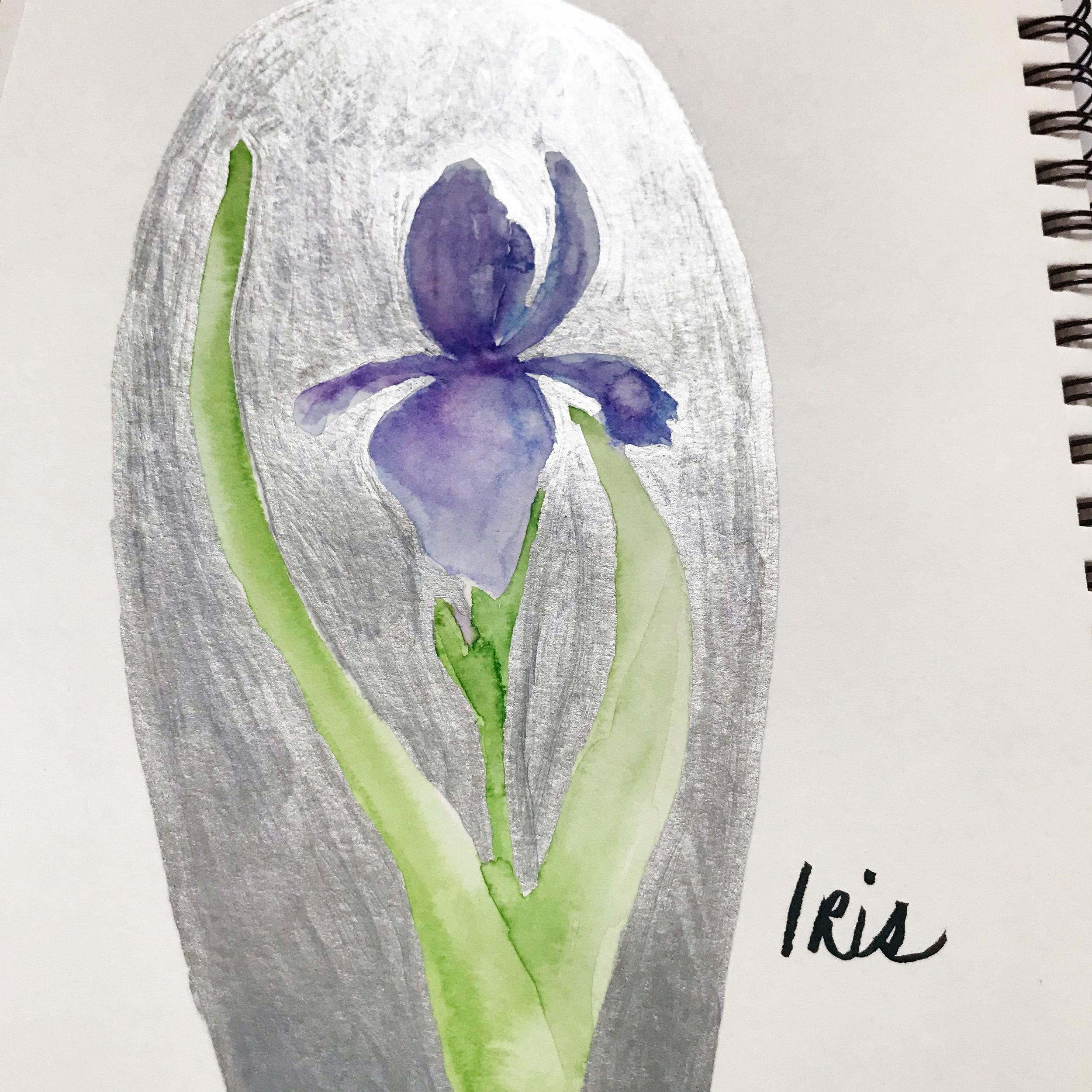 Silver Krylon Leafing Pen in My Sketchbook