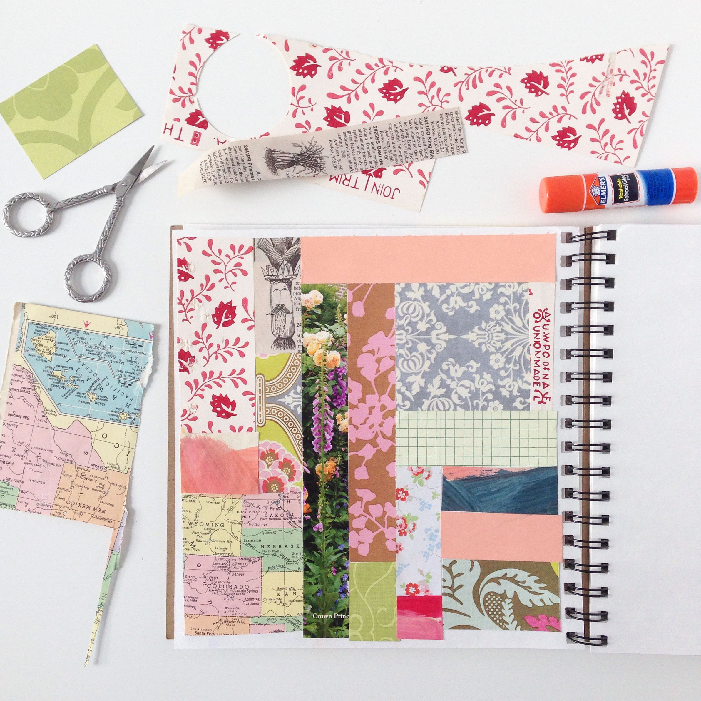 Patchwork Collage in Anne Butera's Sketchbook