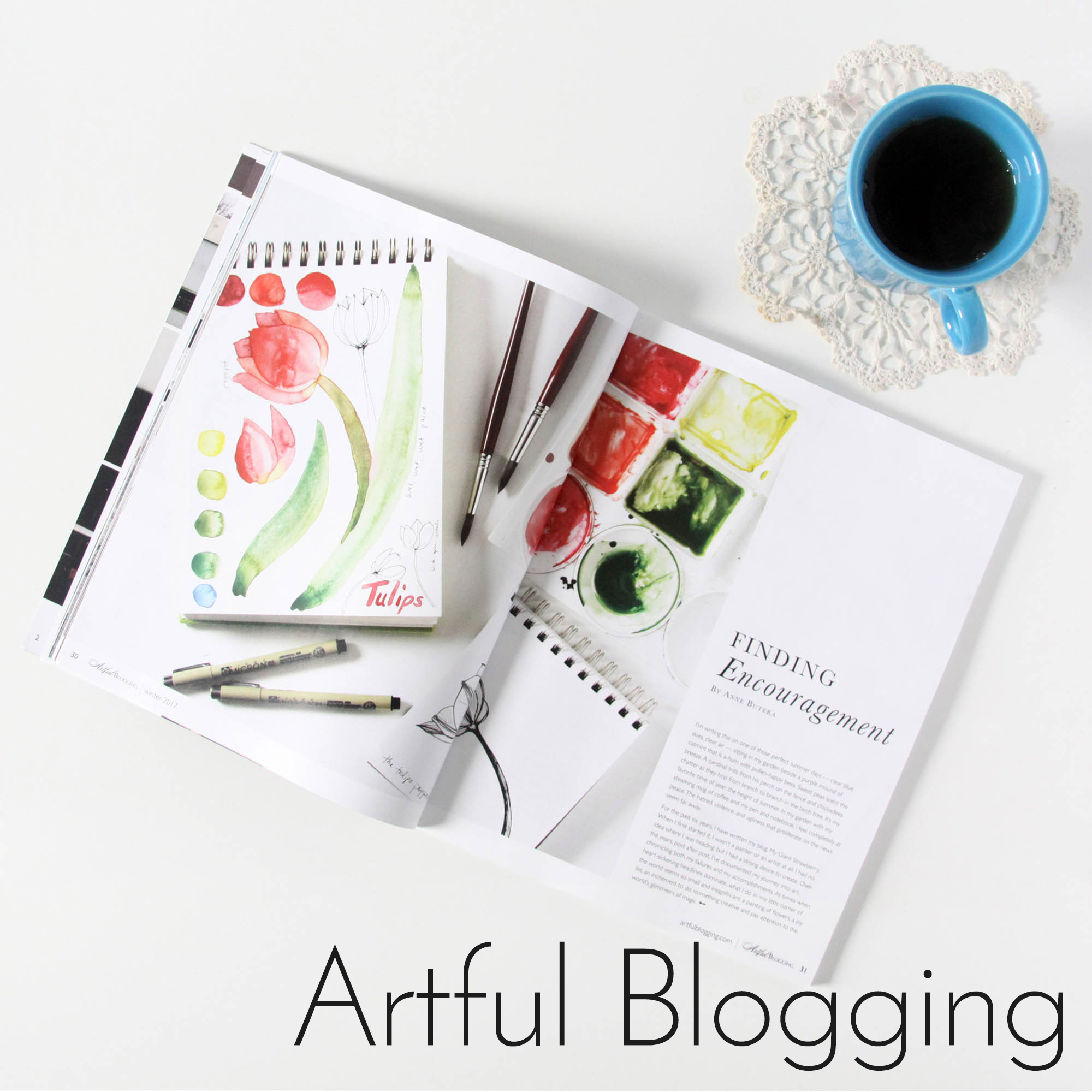 Anne Butera's Blog was featured in Artful Blogging Magazine