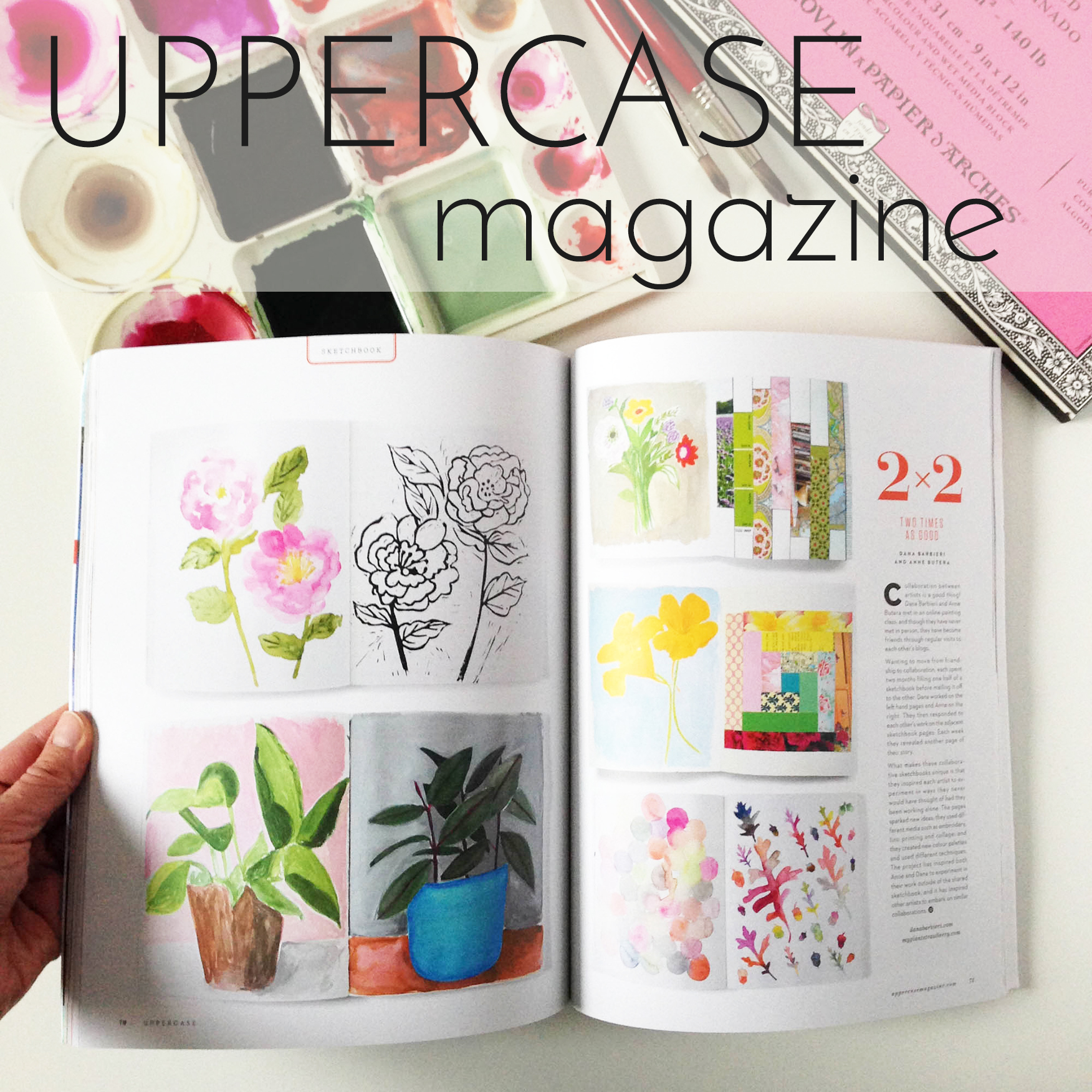 Anne Butera's and Dana Barbieri's Sketchbook Collaboration was featured in UPPERCASE Magazine