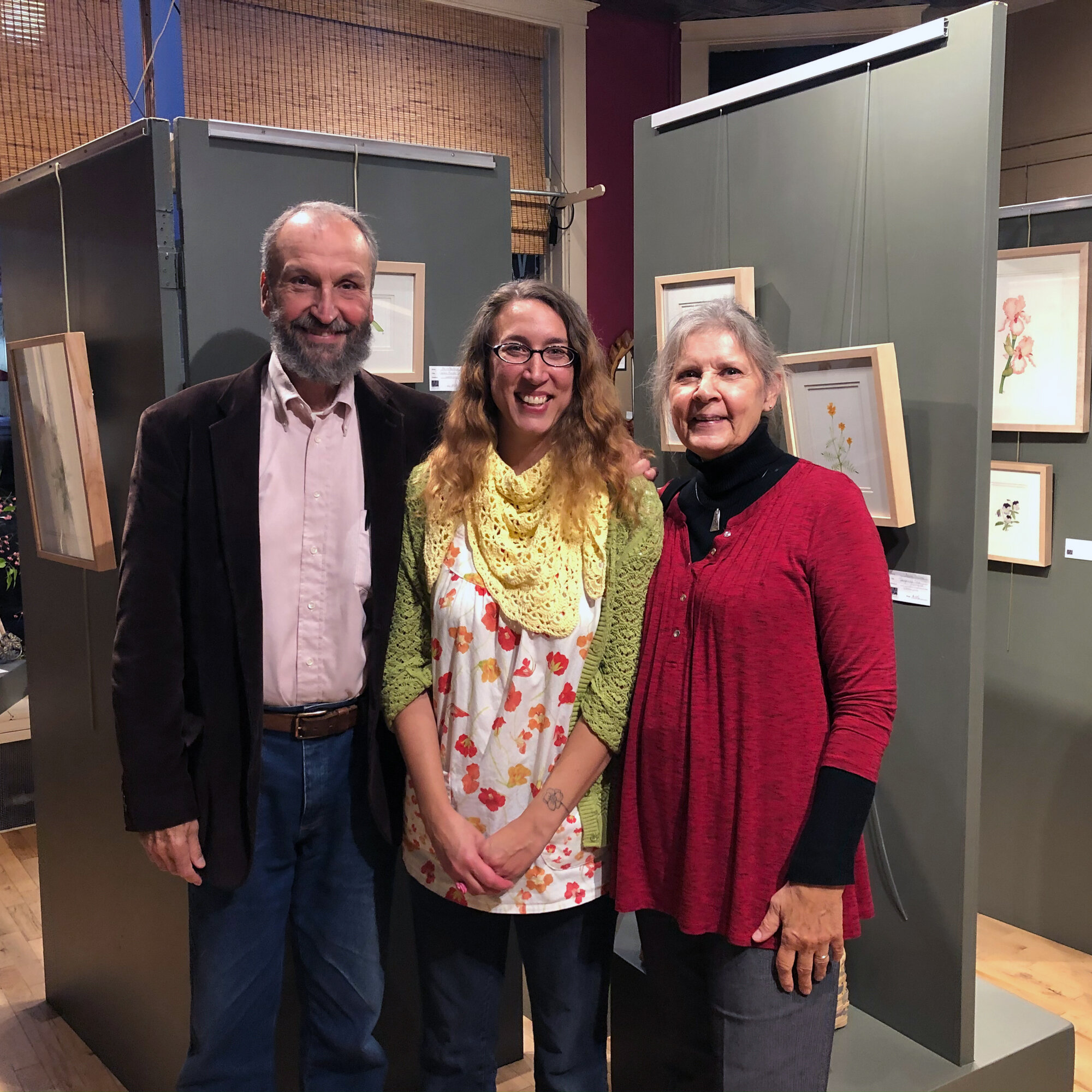 Anne Butera with Her Parents at the Opening Reception of Her Show at Viva Gallery in Viroqua Wisconsin