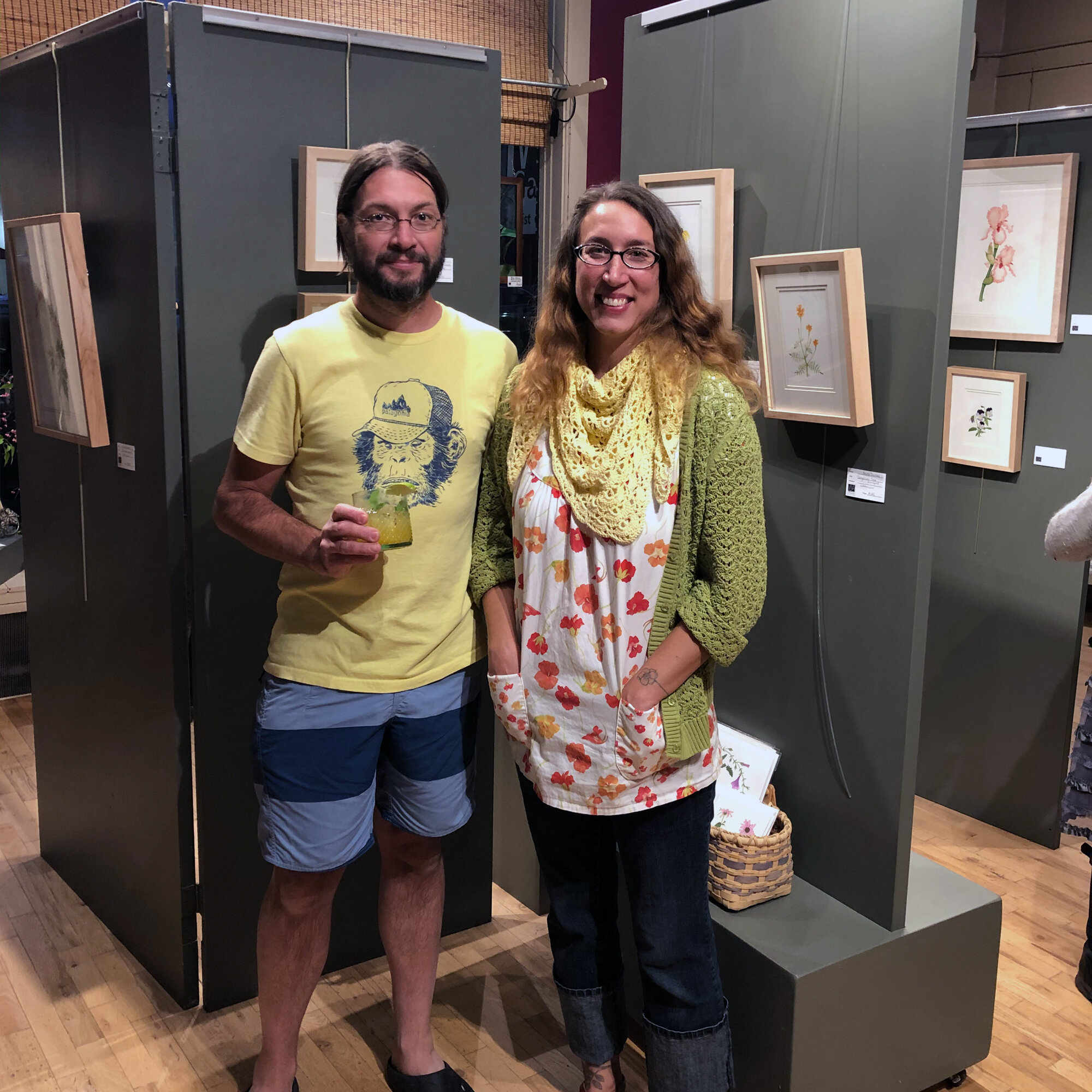 Anne Butera and Her Husband Matthias Minnig at the Opening Reception of Anne's Show at Viva Gallery in Viroqua Wisconsin