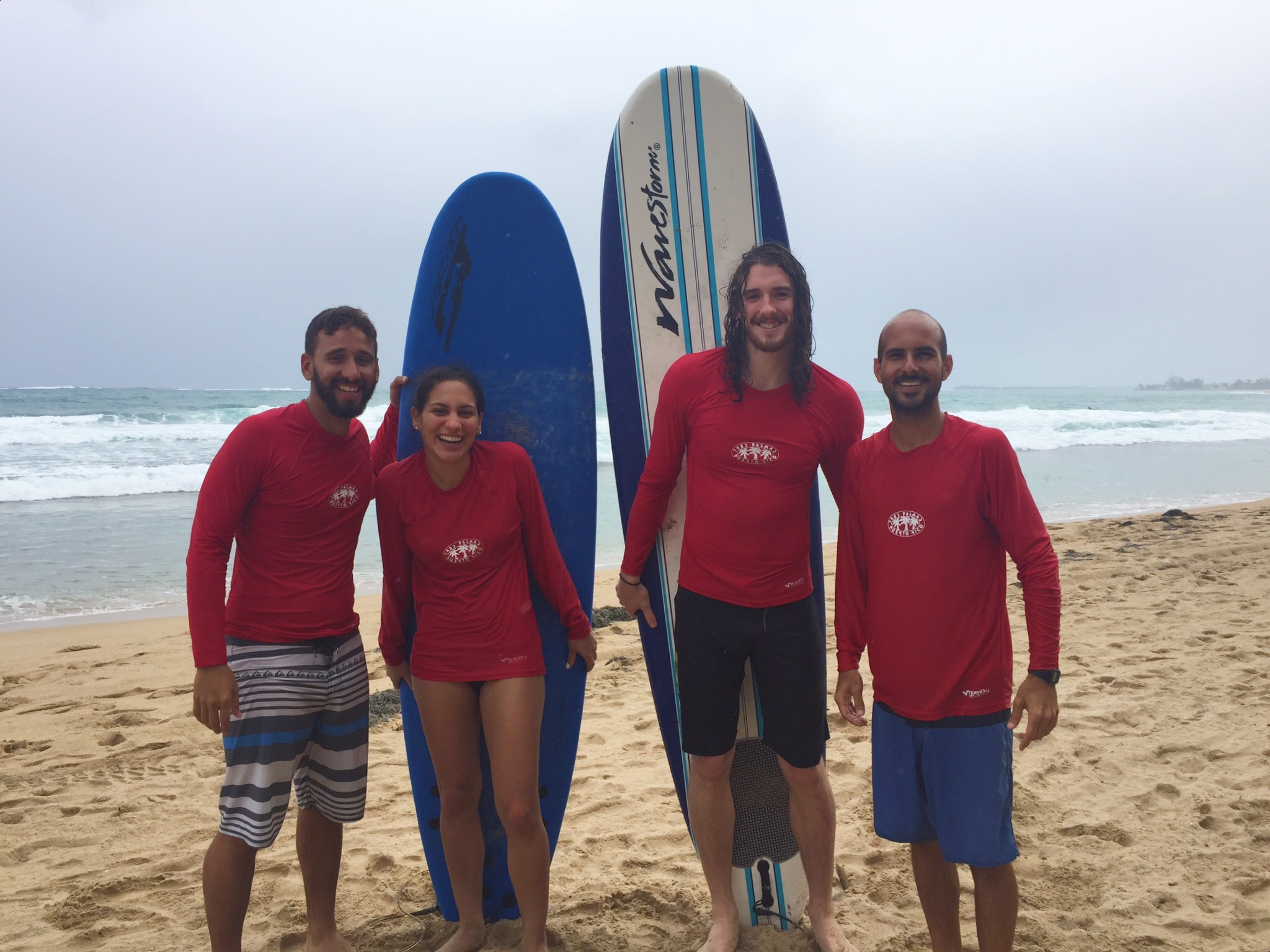 Posing like we know what we're doing with the guys of  La Punta Surf Club .