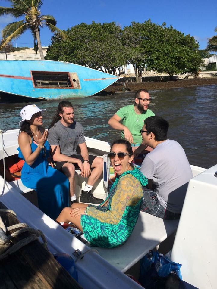 Fearing for our lives at  Las Croabas in the  yola  that would take us to  Icacos Island .