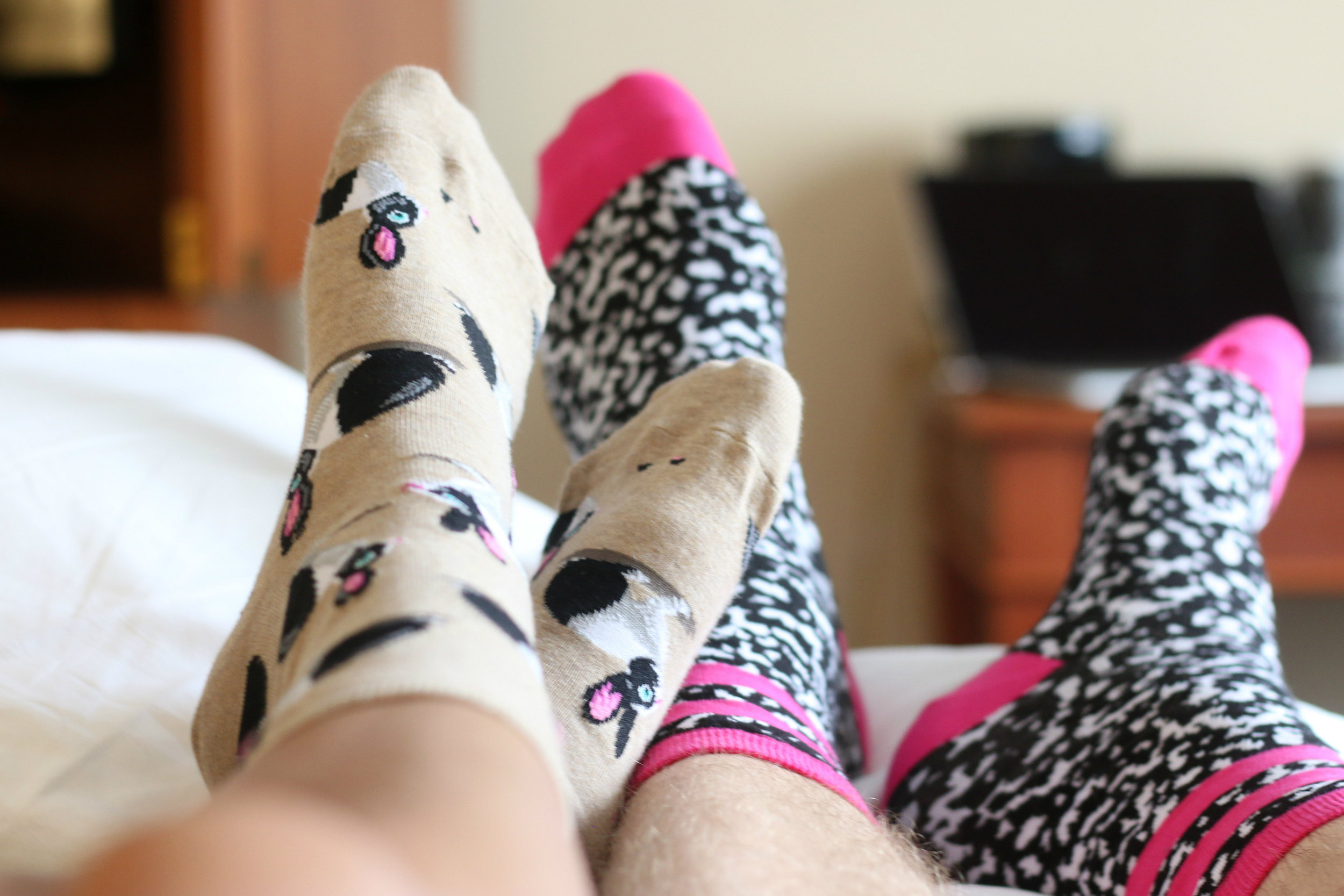 Gotta love our  Hot Sox  socks! Shop their Women's and Men's shop  here  and  here !