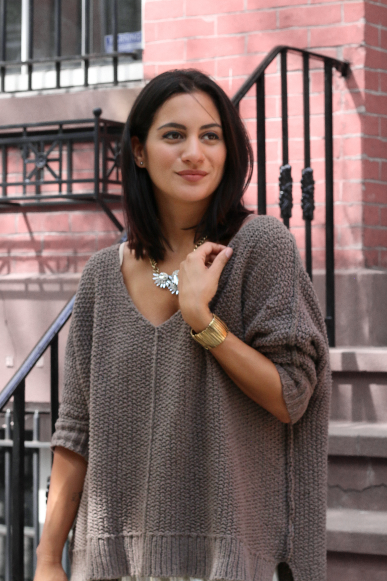 Chunky Knits and Metallics for Fall