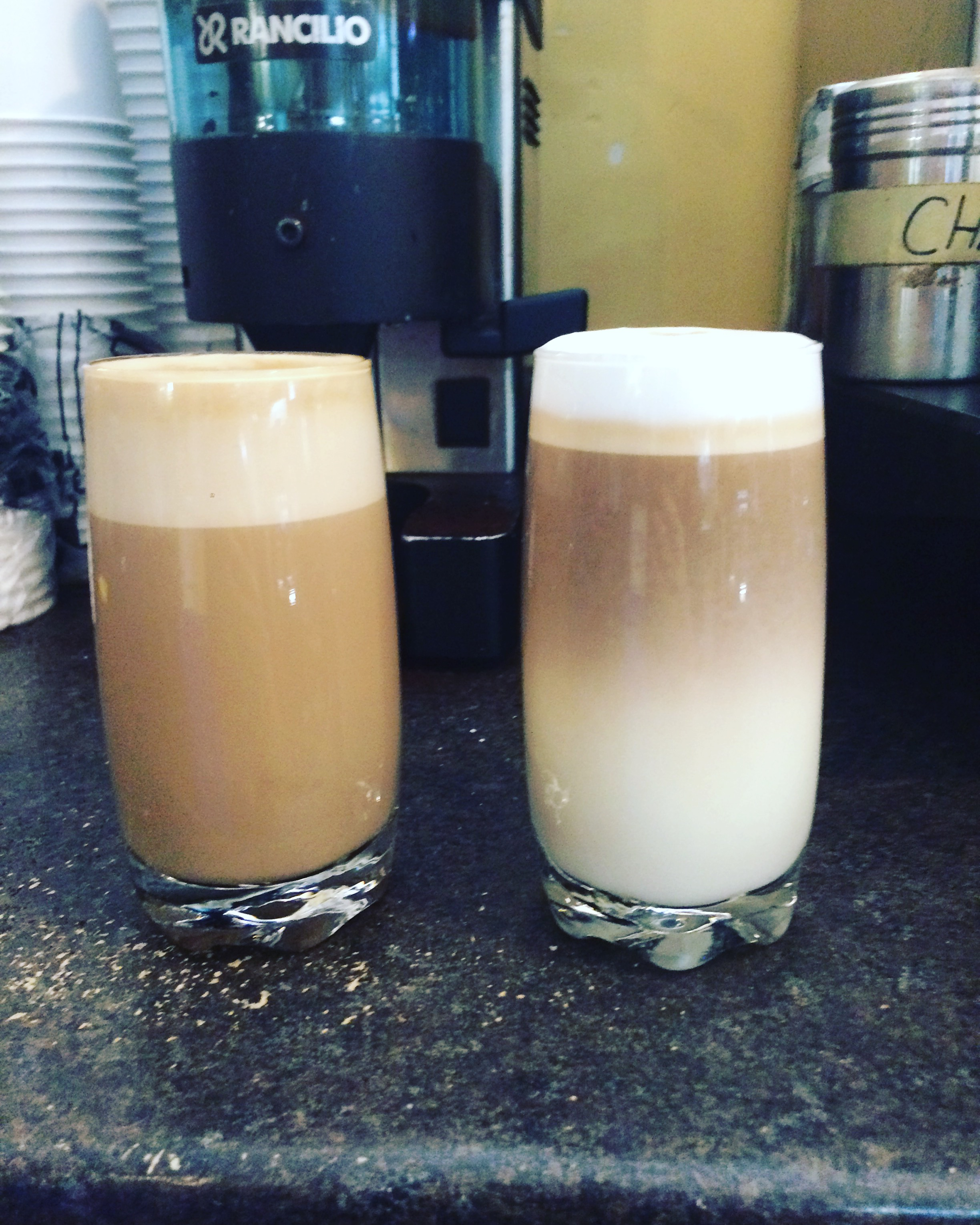 Latte, and Macchiato.