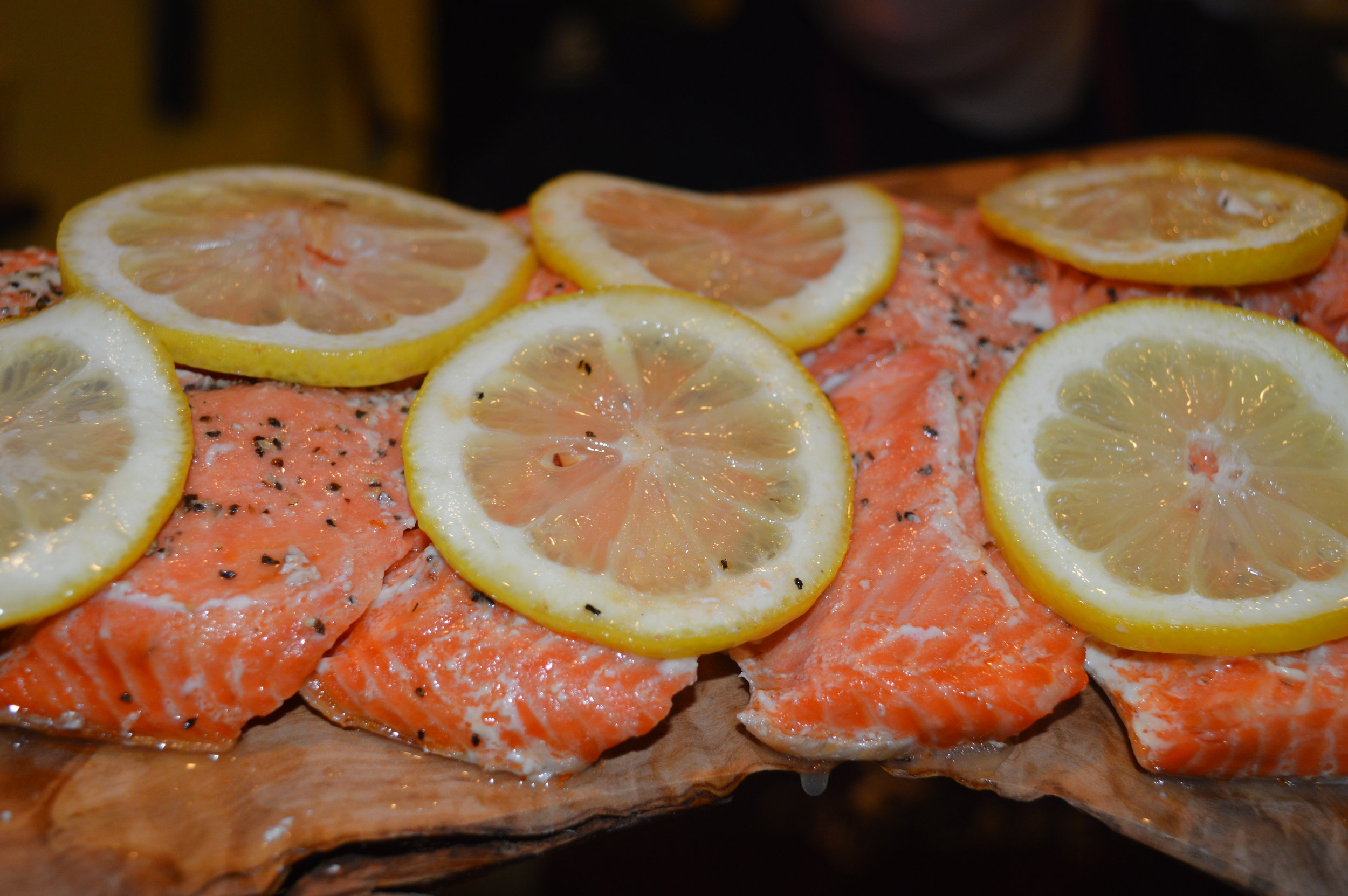 Baked Wild Sockeye Salmon Platter