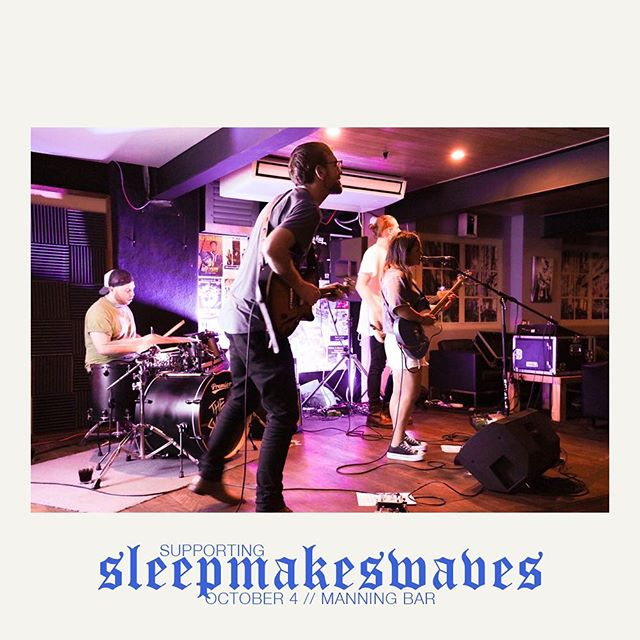 Hey homies, next week we're supporting @sleepmakeswavesaus at @manningbar  Be sure to grab yo tix 💪
