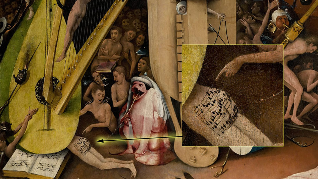 """See Carla Rossi emcee MUSIC FROM HELL and present """"MUSIC FROM THE BUTT,"""" a new lecture about Hieronymus Bosch's famous butt song!"""