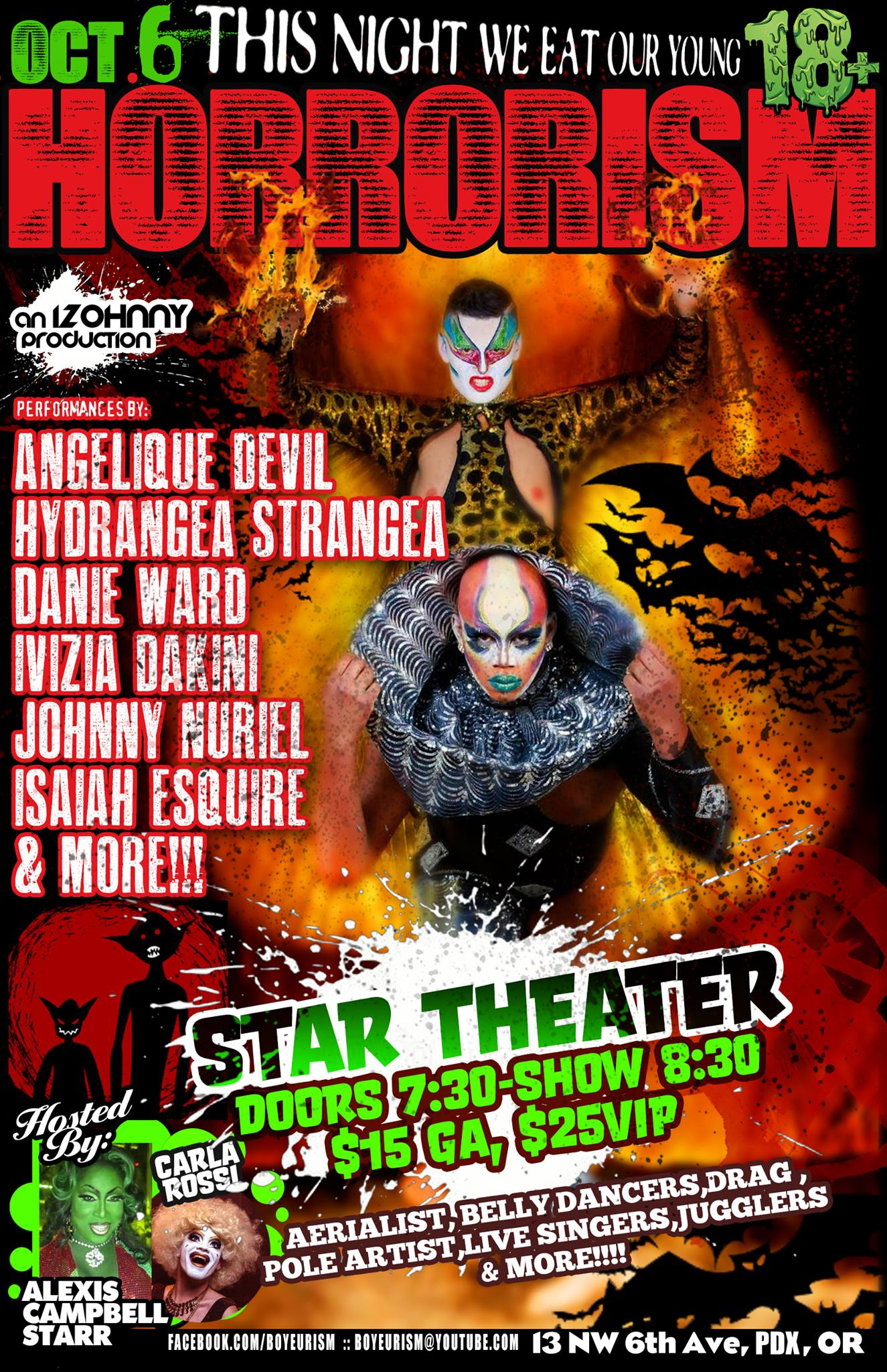 See Carla Rossi co-host HORRORISM with the spooktacular Alexis Campbell Starr!